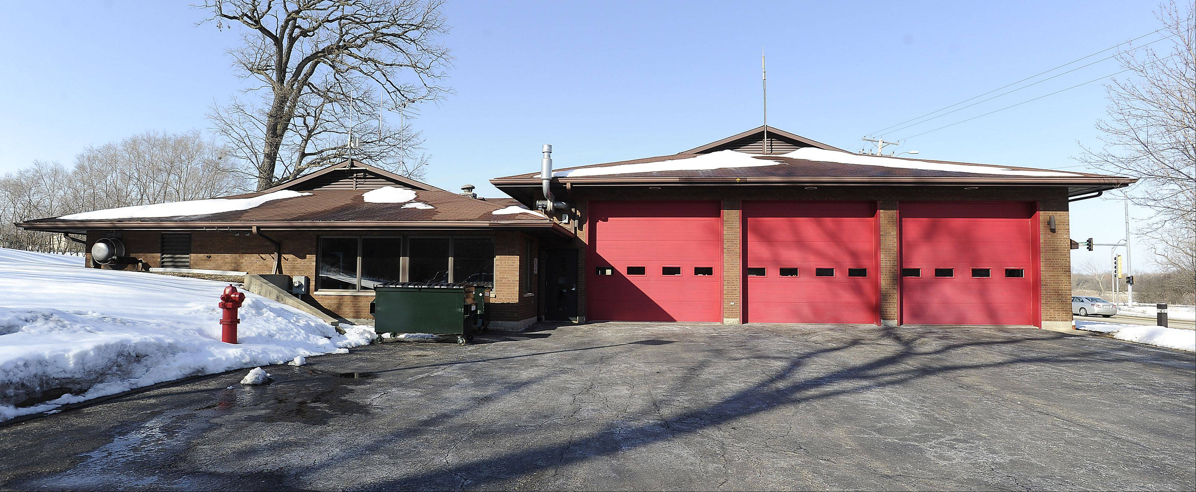 This is the south side of Bartlett Fire Protection District Station 2.