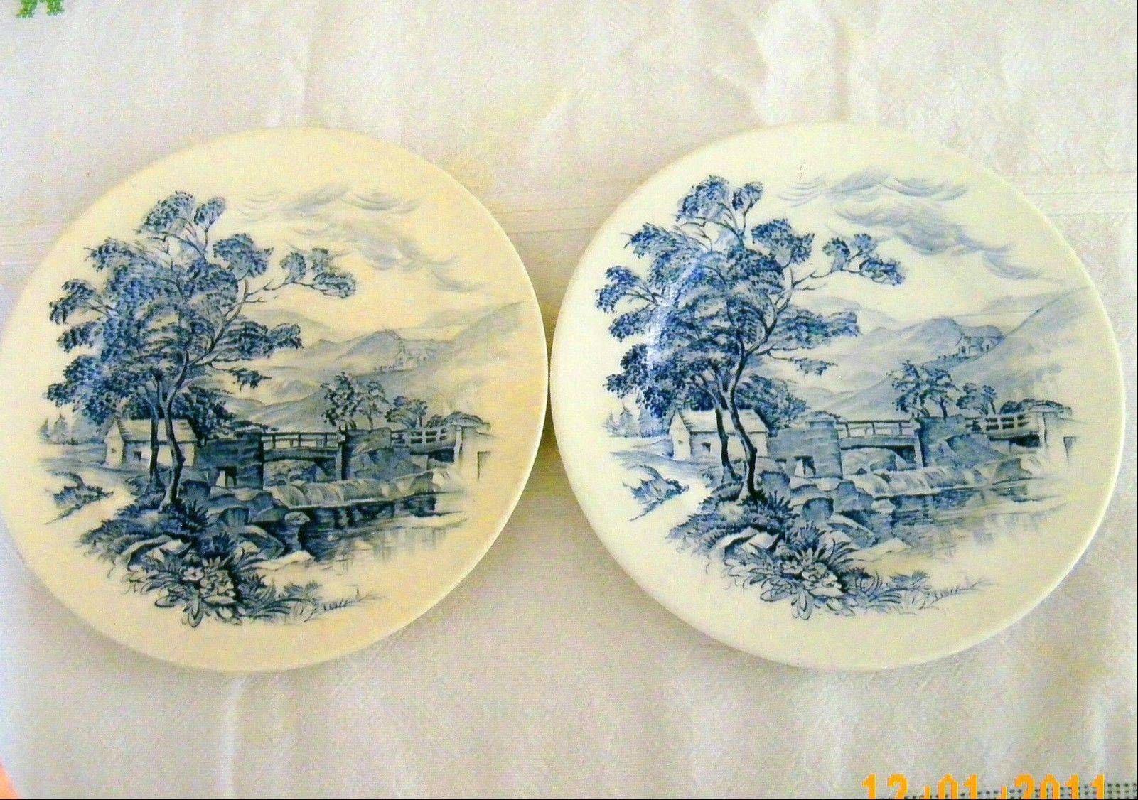 These blue and white plates are marked �Wedgwood & Co. Ltd�, but which Wedgwood is it?