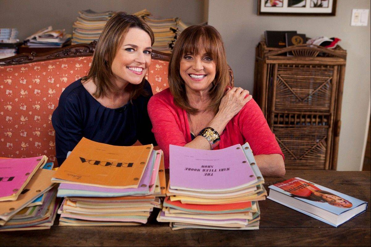 "In this undated photo provided by NBC, Valerie Harper, right, poses with Savannah Guthrie of NBC's ""Today"" at Harper's home in Los Angeles. In her first TV interview since disclosing her diagnosis last week, the 1970s sitcom star tells Guthrie that ""'incurable' is a tough word."" It is scheduled to air on Monday, March 12, 2013."
