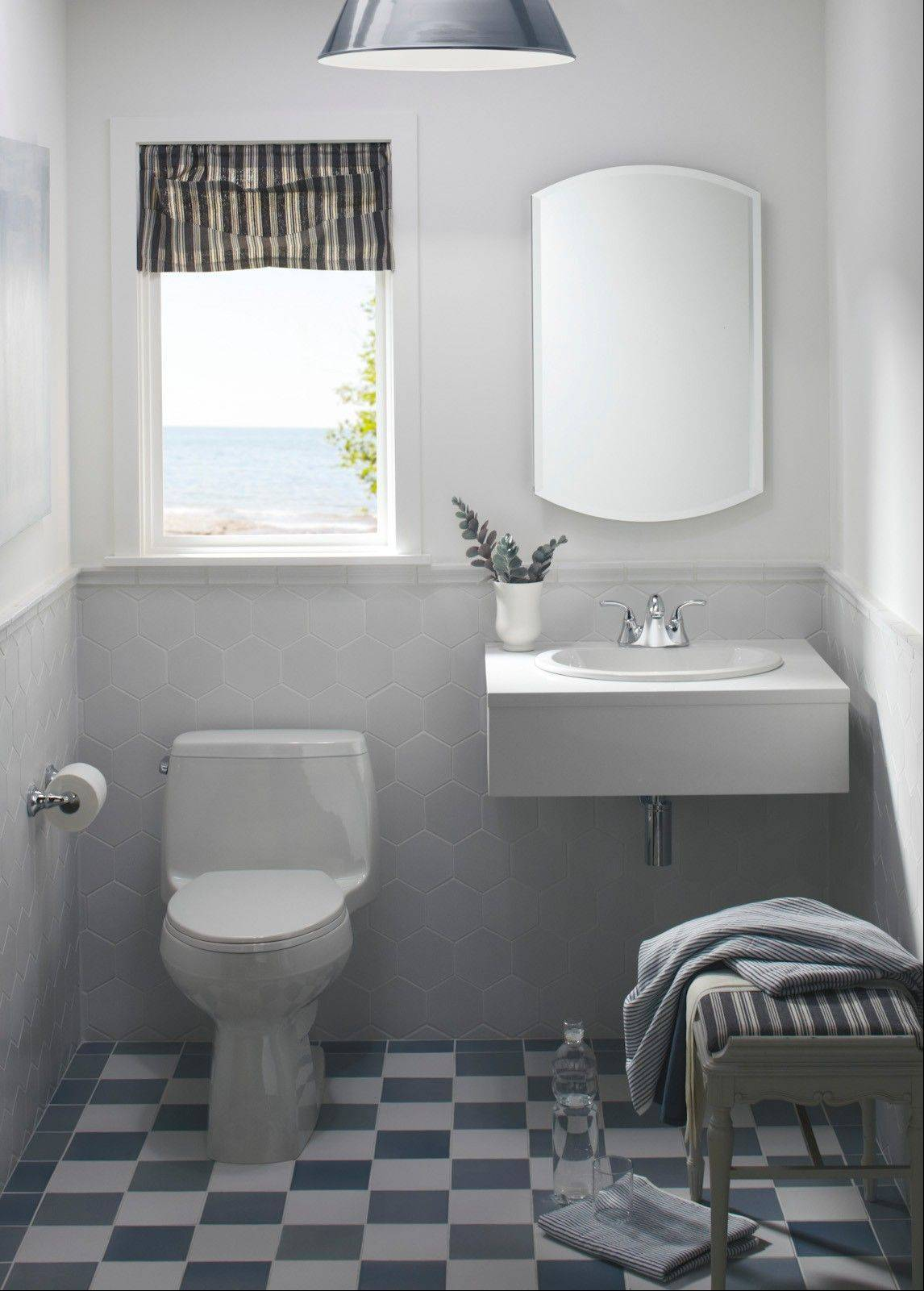 Since toilets come in two basic sizes, check out your space before you buy one.