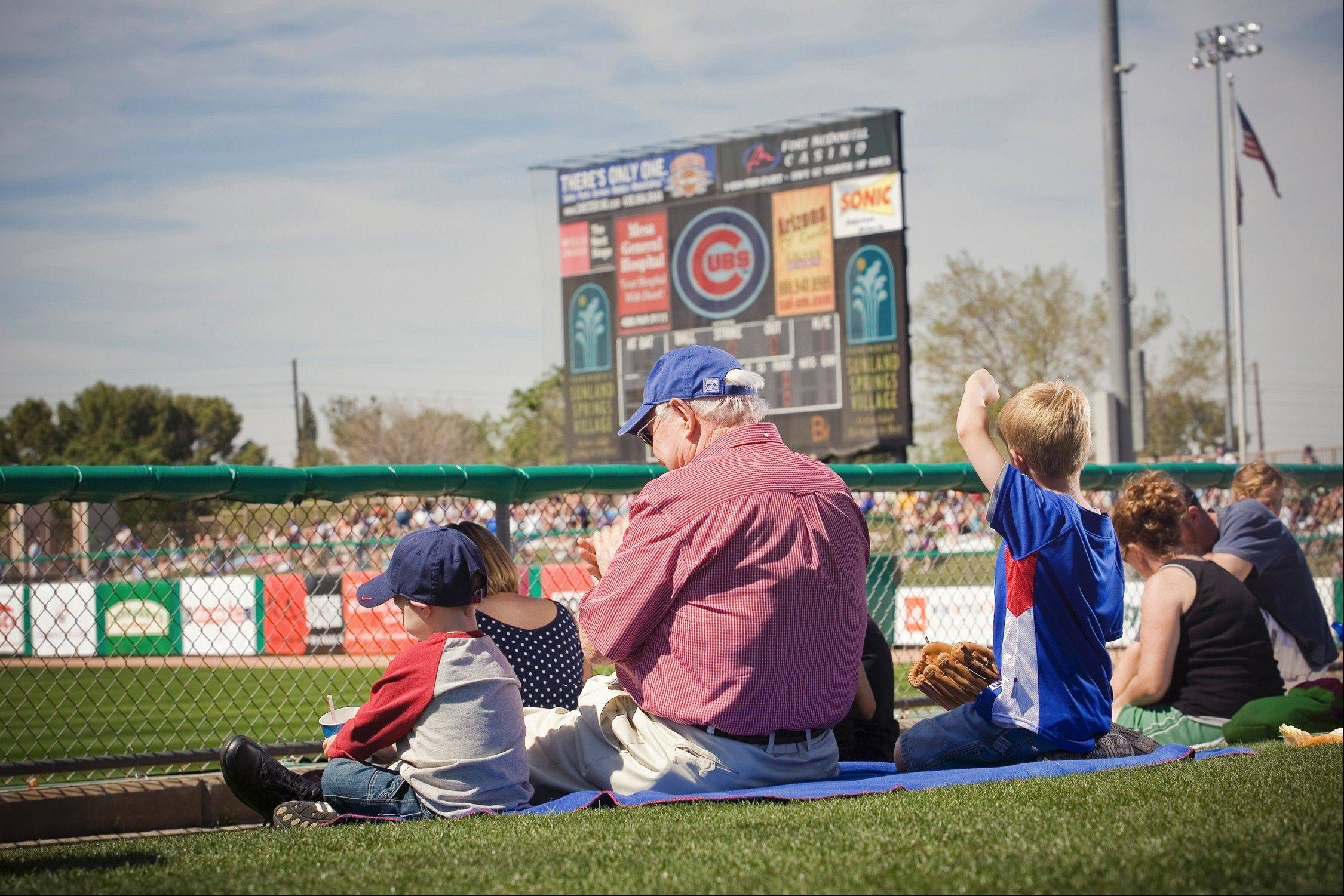 Spring training for the Chicago Cubs runs through March at HoHoKam Stadium in Mesa. A new stadium under construction will open in 2014.