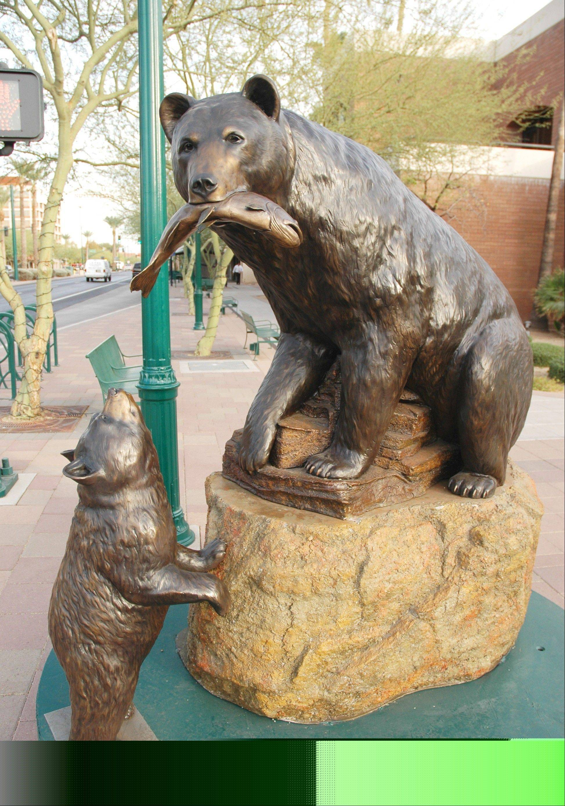A variety of sculptures decorate the streets of Mesa's downtown.