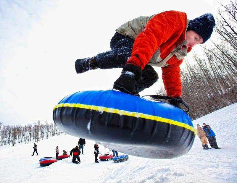 Try snow tubing at TimberLee Hills in Traverse City, Mich.