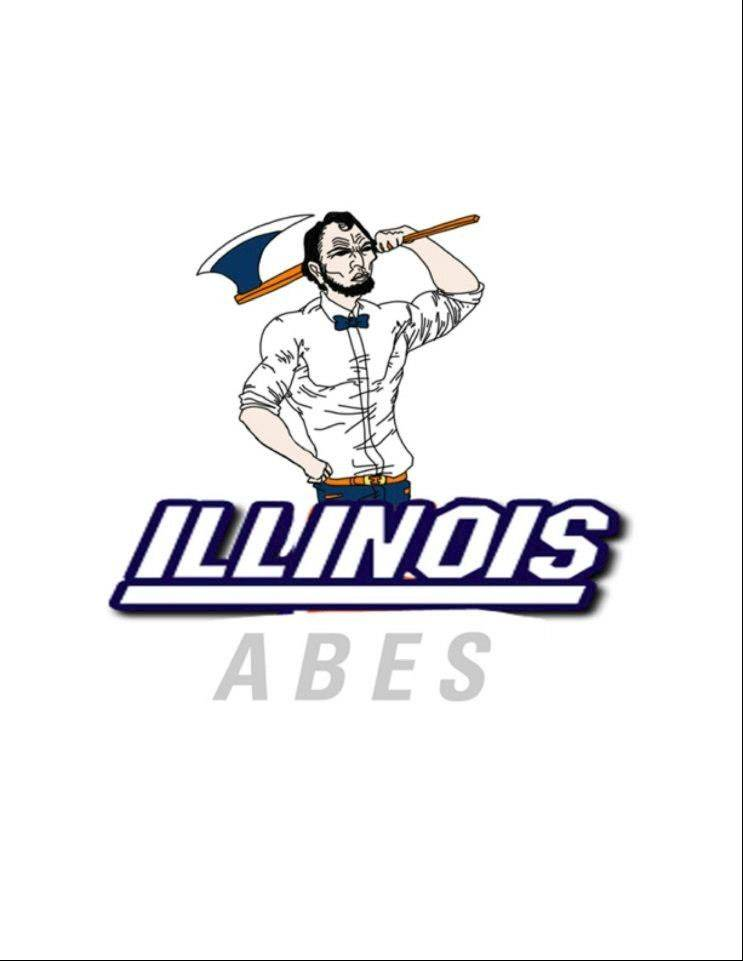 In an effort to find a replacement for Chief Illiniwek, some students opt for incorporating Abe Lincoln into a new symbol for the University of Illinois.