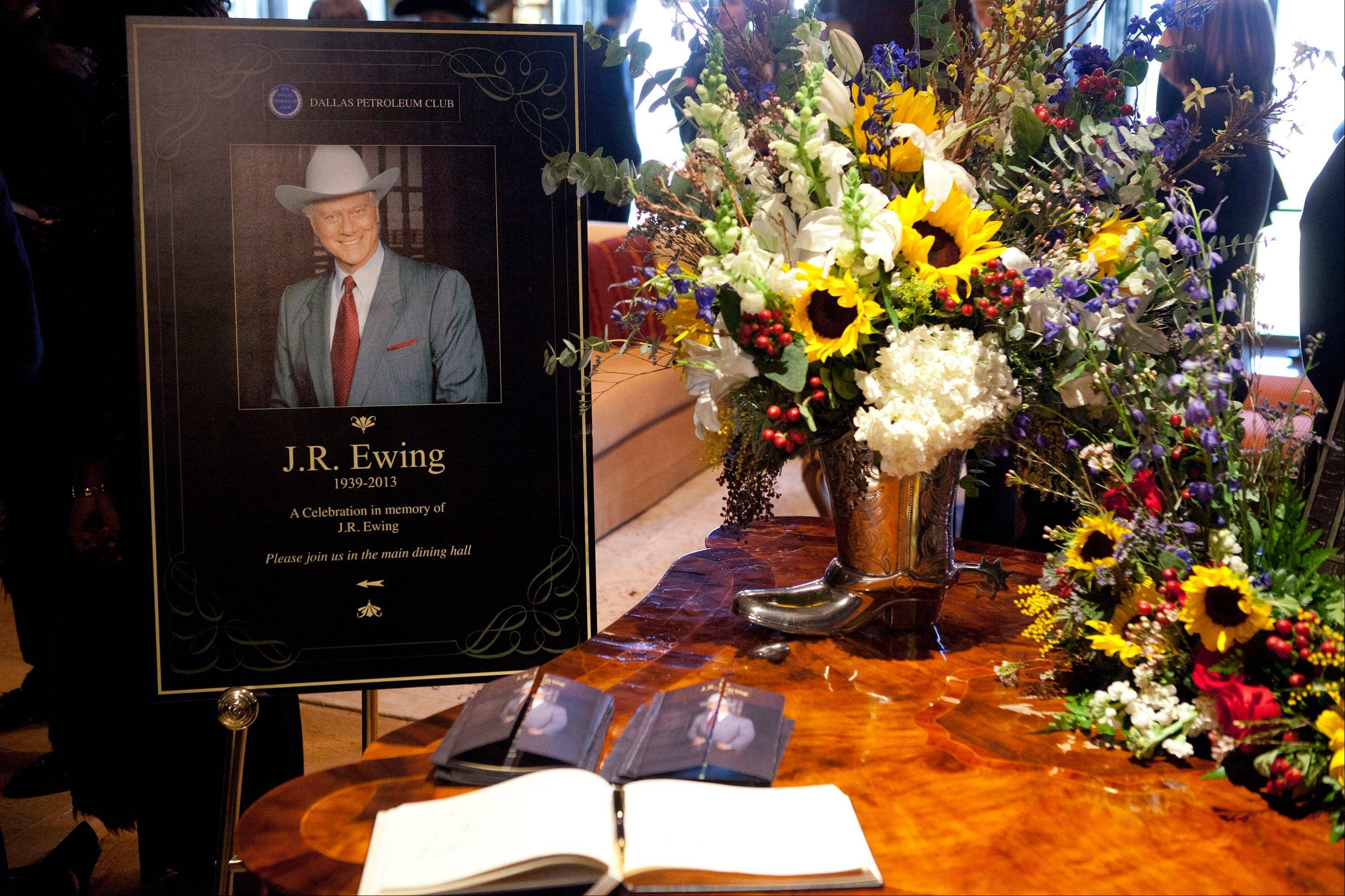"Monday's episode of ""Dallas"" — surely the first without Larry Hagman's deliciously vile presence — stands as a fitting tribute both to him and to J.R., complete with a wake and a funeral for the rascally oil baron. Hagman died of cancer at 81 the day after Thanksgiving."
