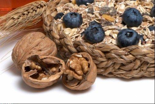 Walnuts and blueberries are both good for your brain.