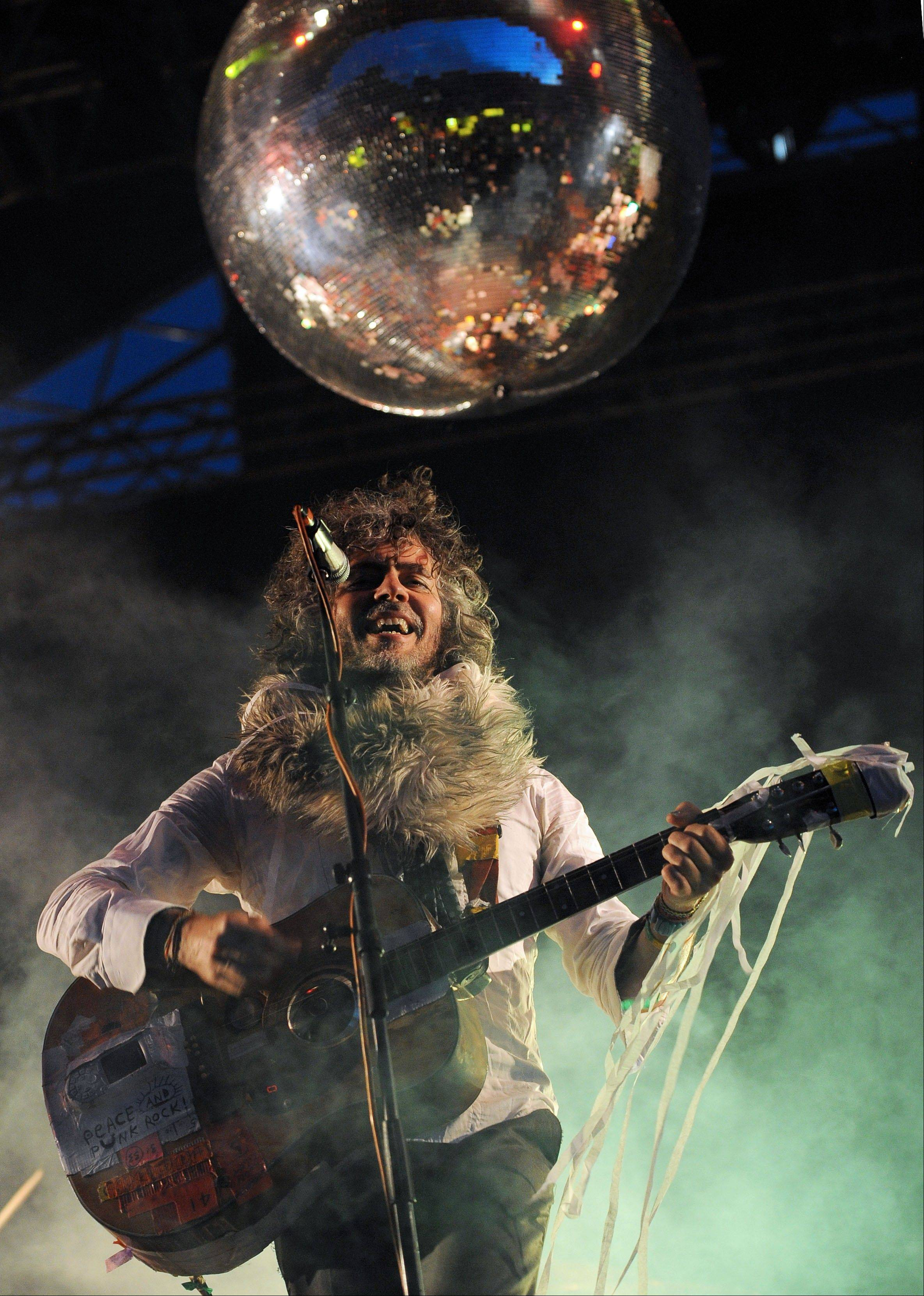 "Wayne Coyne, the lead singer and guitarist of The Flaming Lips during the Optimus Primavera Sound music festival in Porto, Portugal. The Flaming Lips are playing a free outdoor concert at SXSW this week, as well as premiering Coyne's film ""A Year in the Life of Wayne's Phone."""