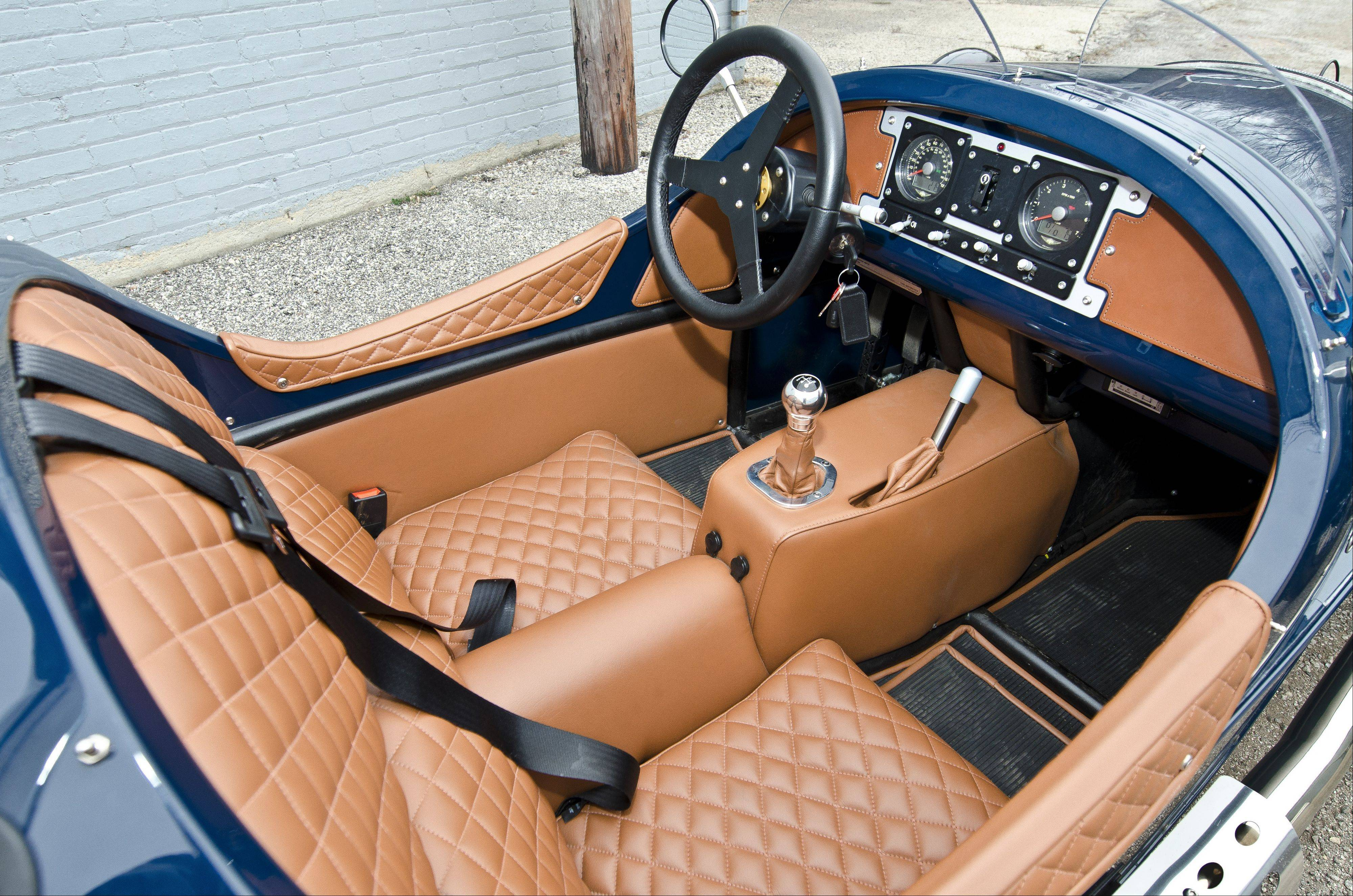A comfortable, luxurious leather cabin is found inside the vehicle.