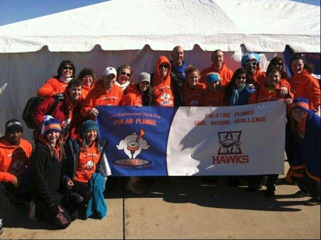 Hoffman Estates High School fielded the top team in number or people and in dollars raised for the March 3 Polar Plunge in Palatine to raise money for Special Olympics Illinois.