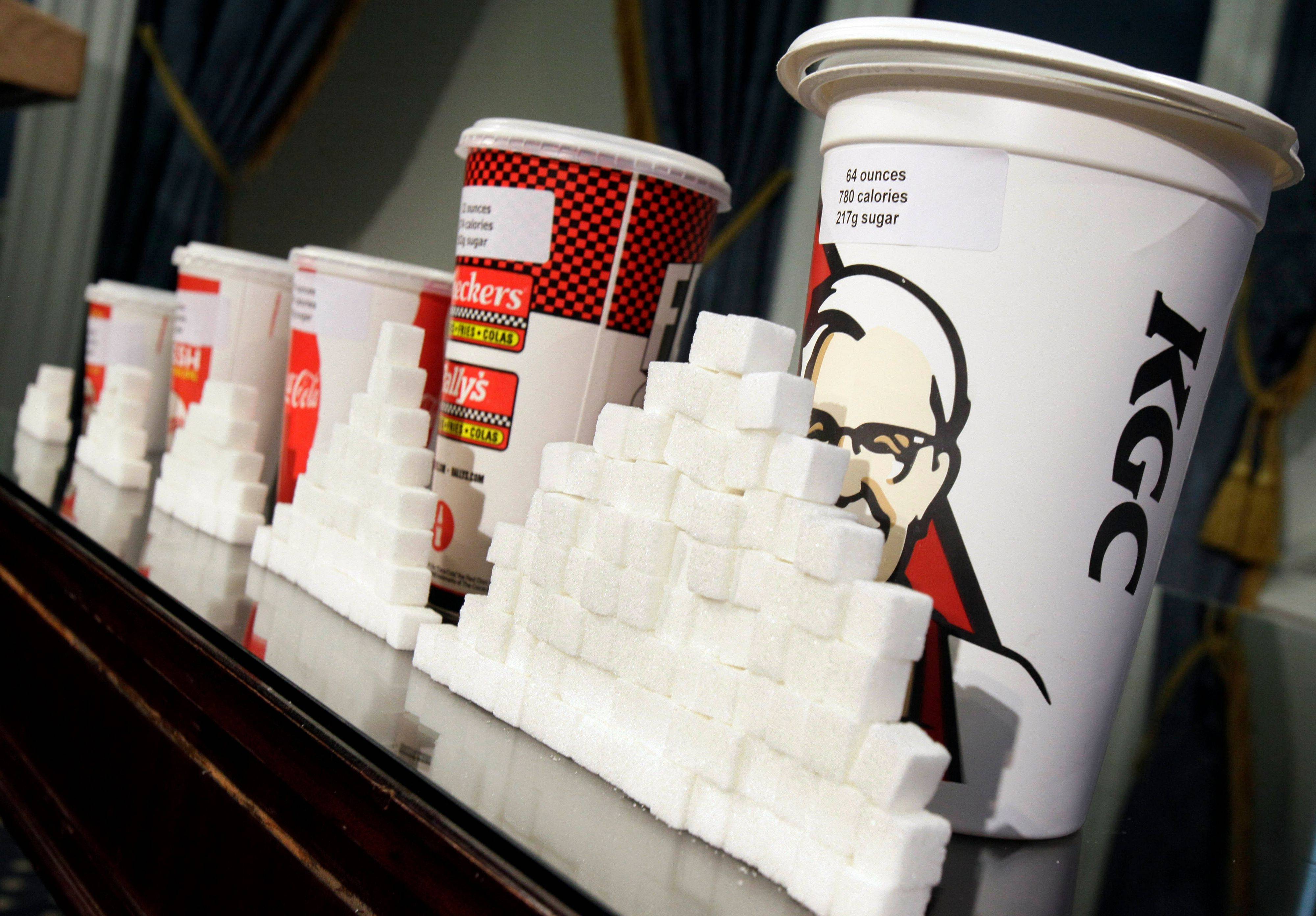 A judge struck down New York City's groundbreaking limit on the size of sugar-laden drinks Monday shortly before it was set to take effect.
