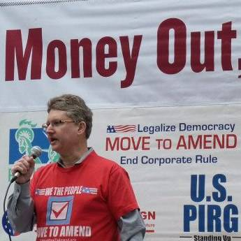Steve Alesch of Illinois Move to Amend will speak at DuPage UU Church on March 24.