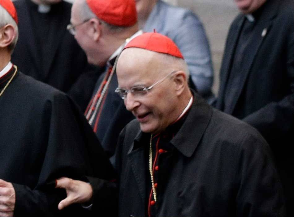 Chicago�s Cardinal Francis George in Rome this morning before the conclave began.