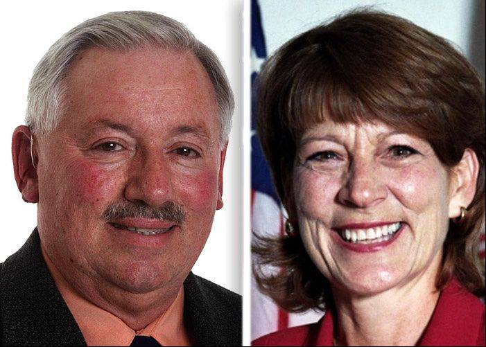 James Cecille and Billie Roth are running for village president in Streamwood.