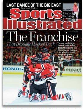 For the third time in franchise history, the Chicago Blackhawks have made the cover of Sports Illustrated magazine.