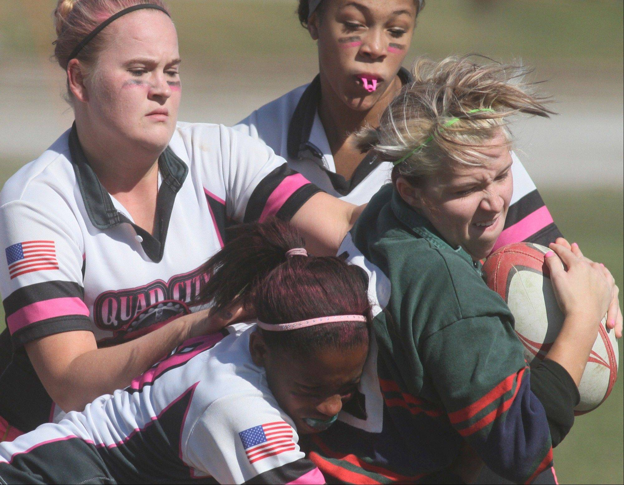 The Palatine Rugby Club offers Powder Puff Rugby for high school girls Mondays, April 1-29, at Falcon Park Recreation Center.
