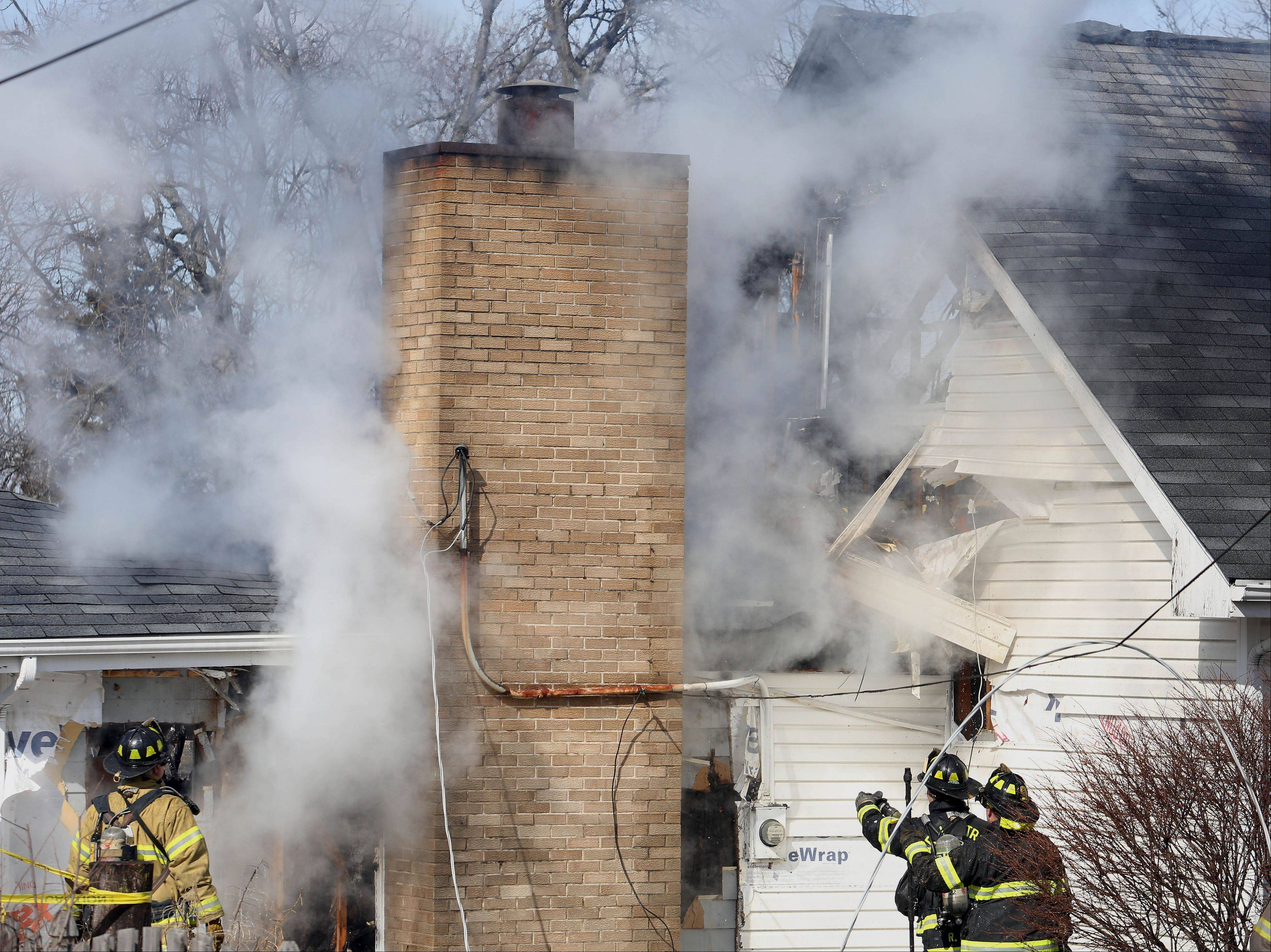 Carol Stream firefighters are trying to determine what sparked a blaze Wednesday morning that caused extensive damage to a house on the 400 block of N. Blackhawk Drive.