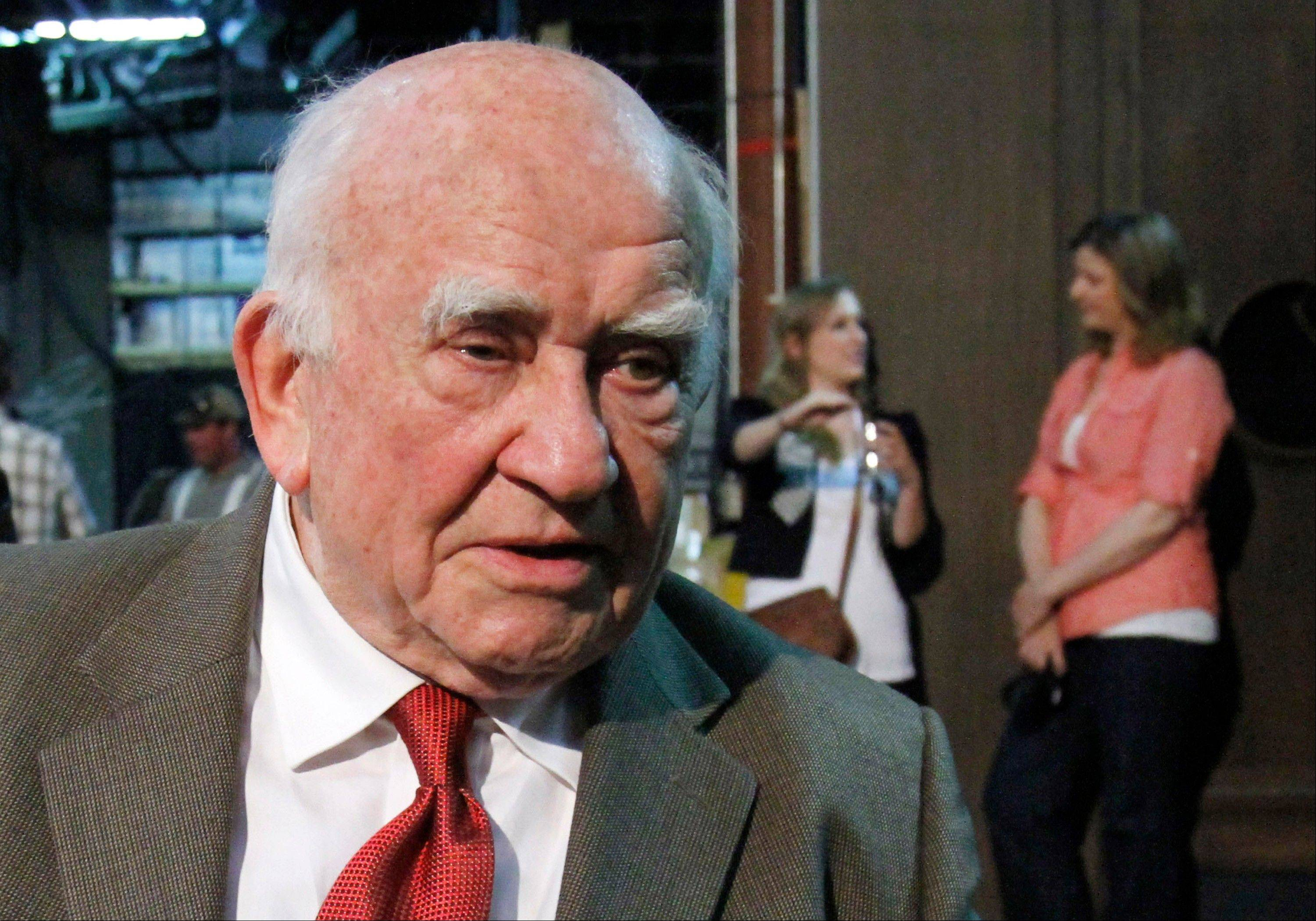 Actor and former Screen Actors Guild President Ed Asner has been hospitalized with exhaustion in Indiana.