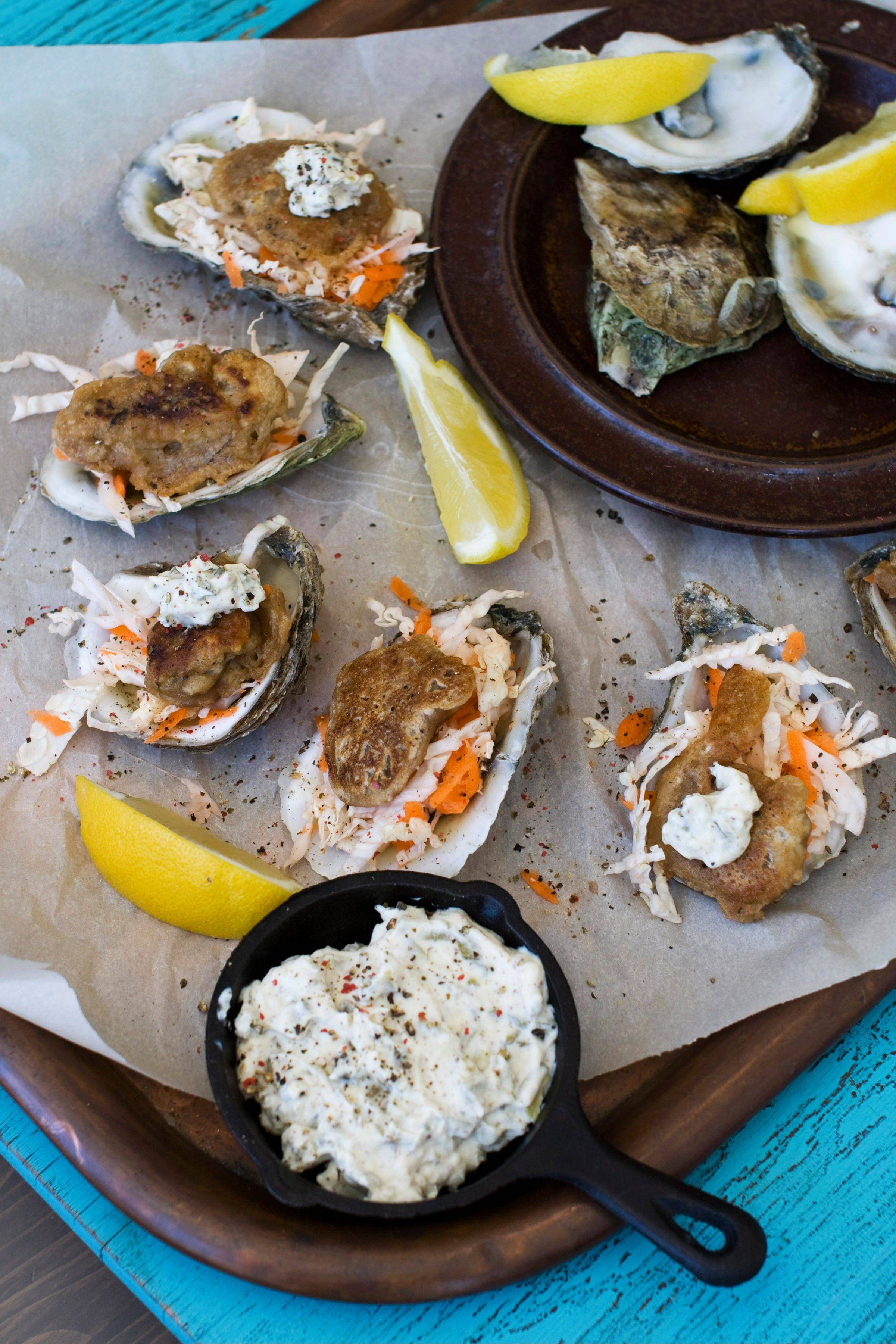 Beer-batter and a piquant mustard sauce makes these pan-fried oysters a hit for St. Patrick's Day or any day that ends in 'y.'