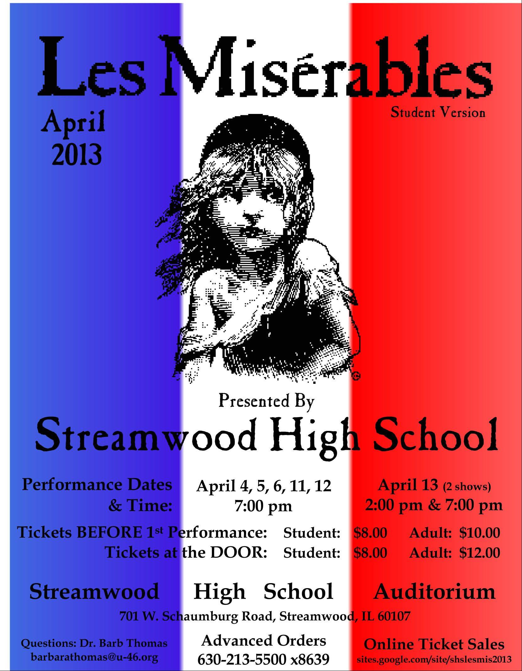 "This is the school's ""Les Mis"" flyer."