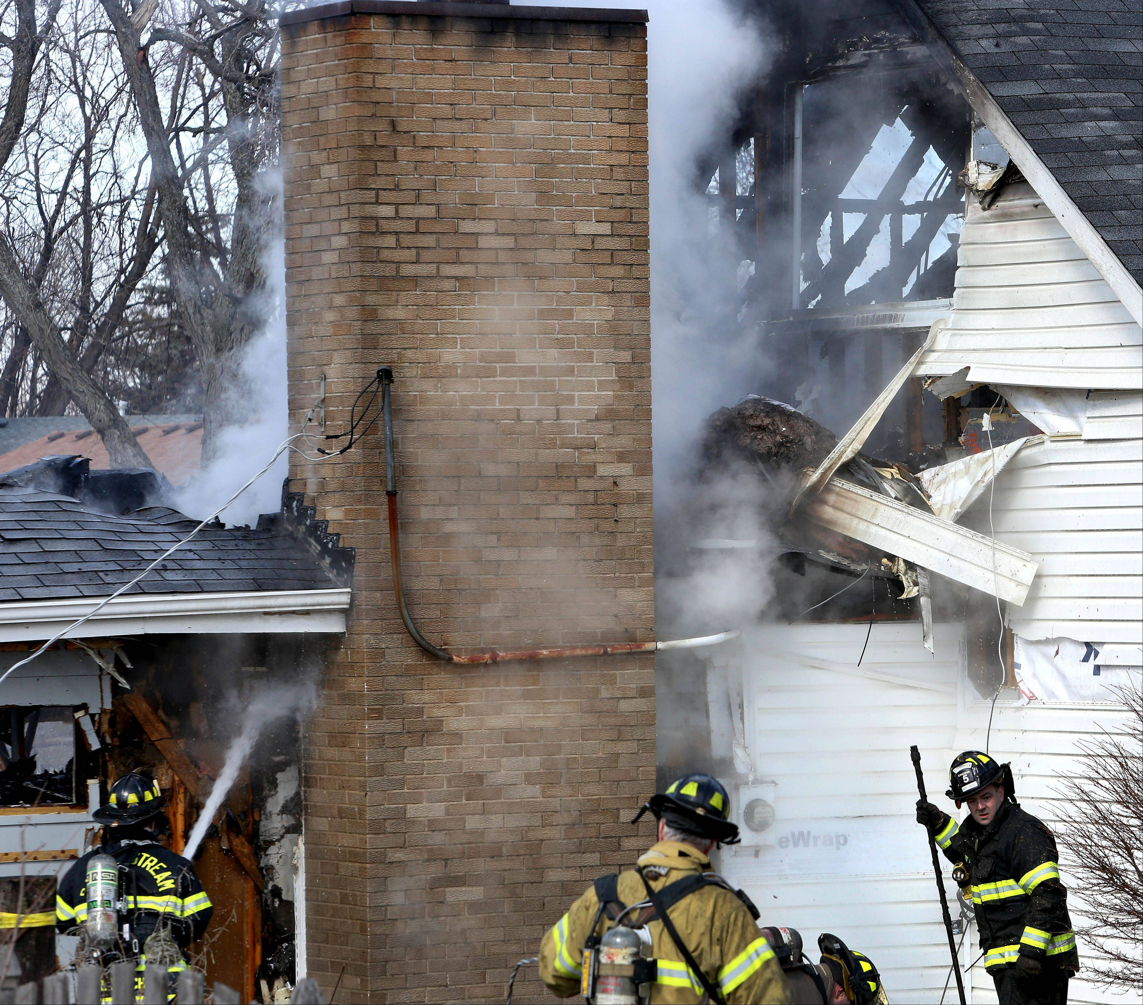 A fire caused more than $100,000 damage Wednesday morning to a house in Carol Stream.