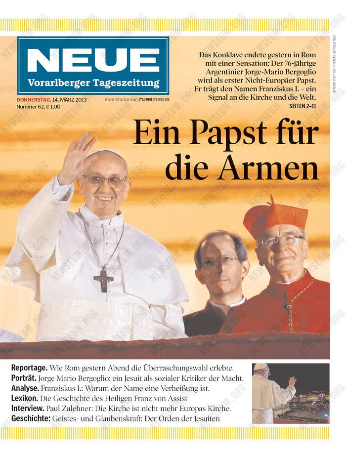 Images: Pope Francis newspaper front pages worldwide