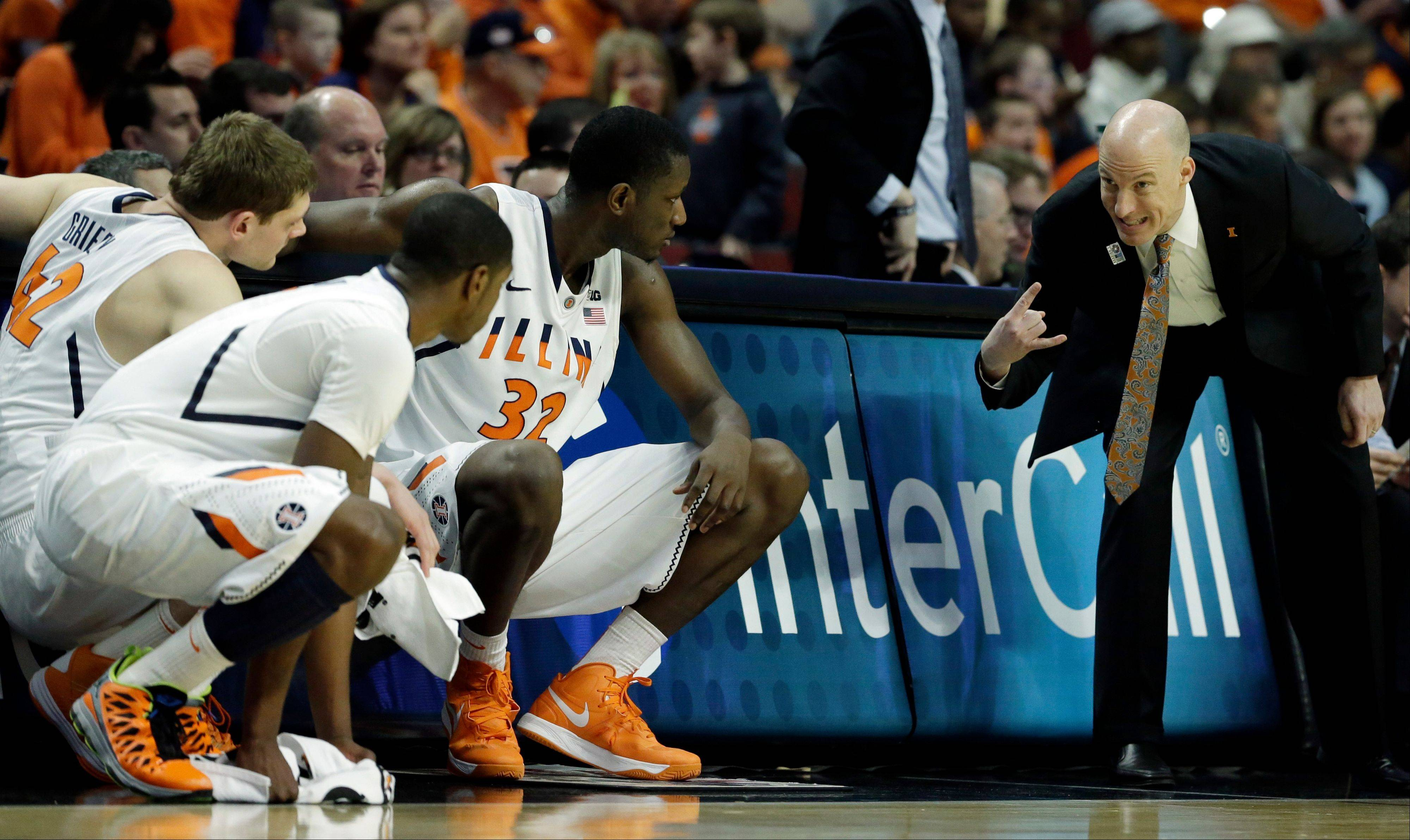 Illinois head coach John Groce helped his team get to the next round of the Big Ten Tournament with a win Thursday over Minnesota. Up next: Indiana.