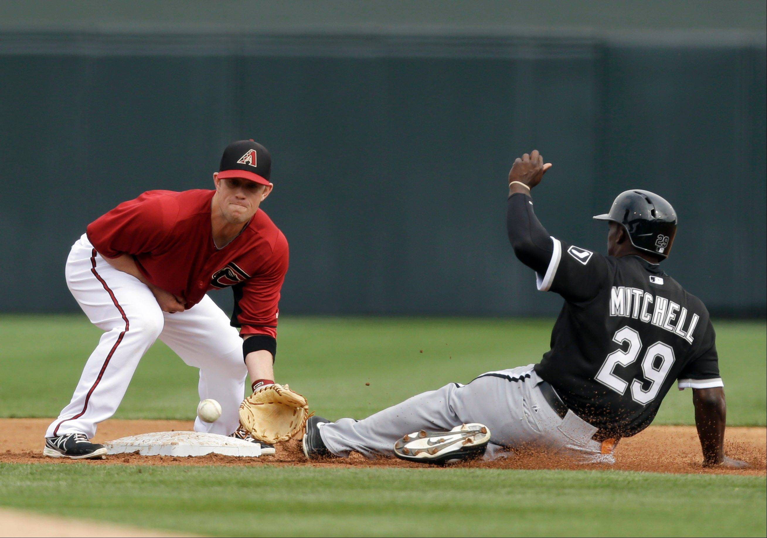 Jared Mitchell (29) of the White Sox had a chance to flash his speed and power in spring training.