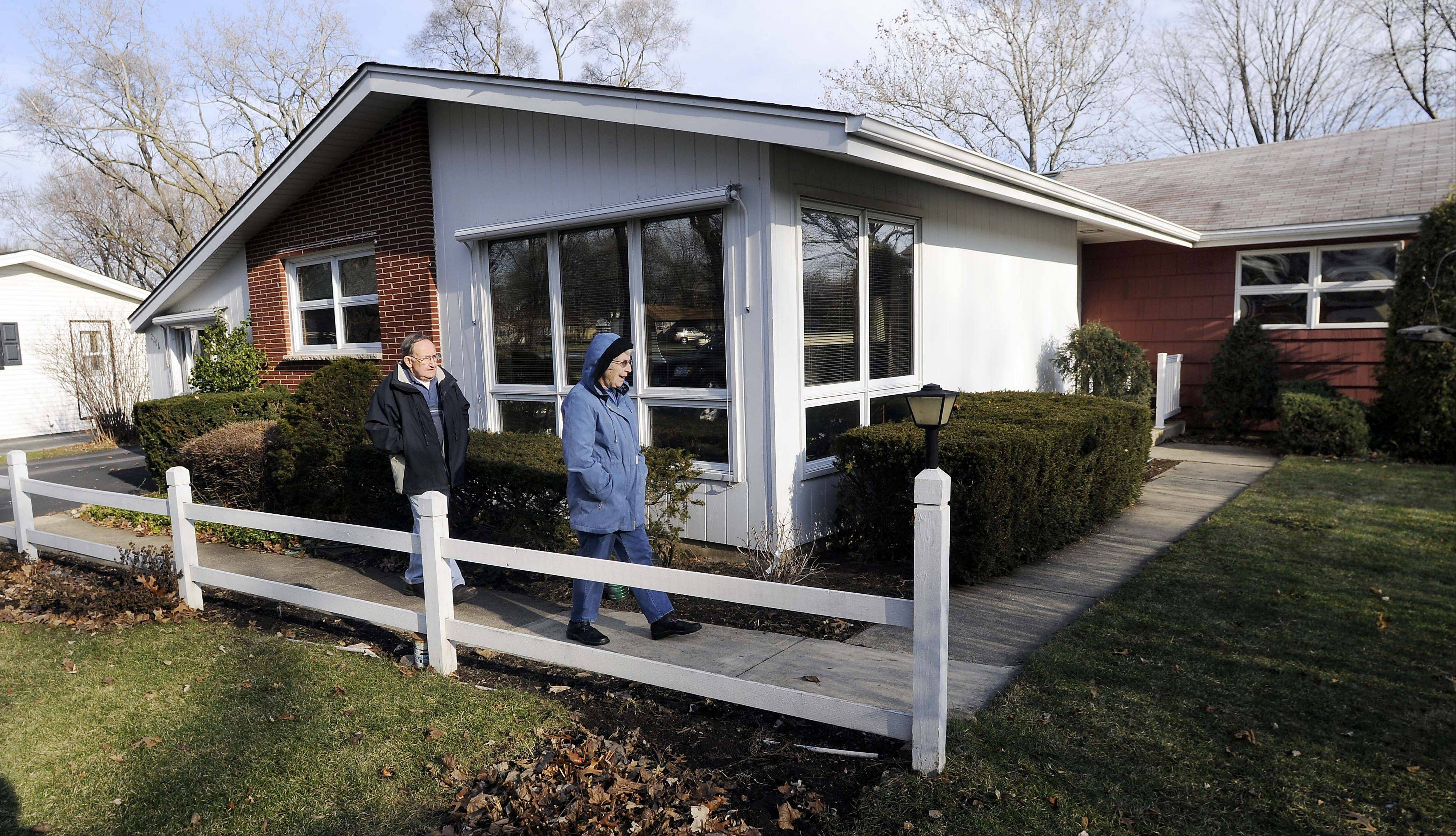 Bill and Martha Roberts bought one of the first Kimball Hill ranch houses built in Rolling Meadows for about $19,000 in 1962.