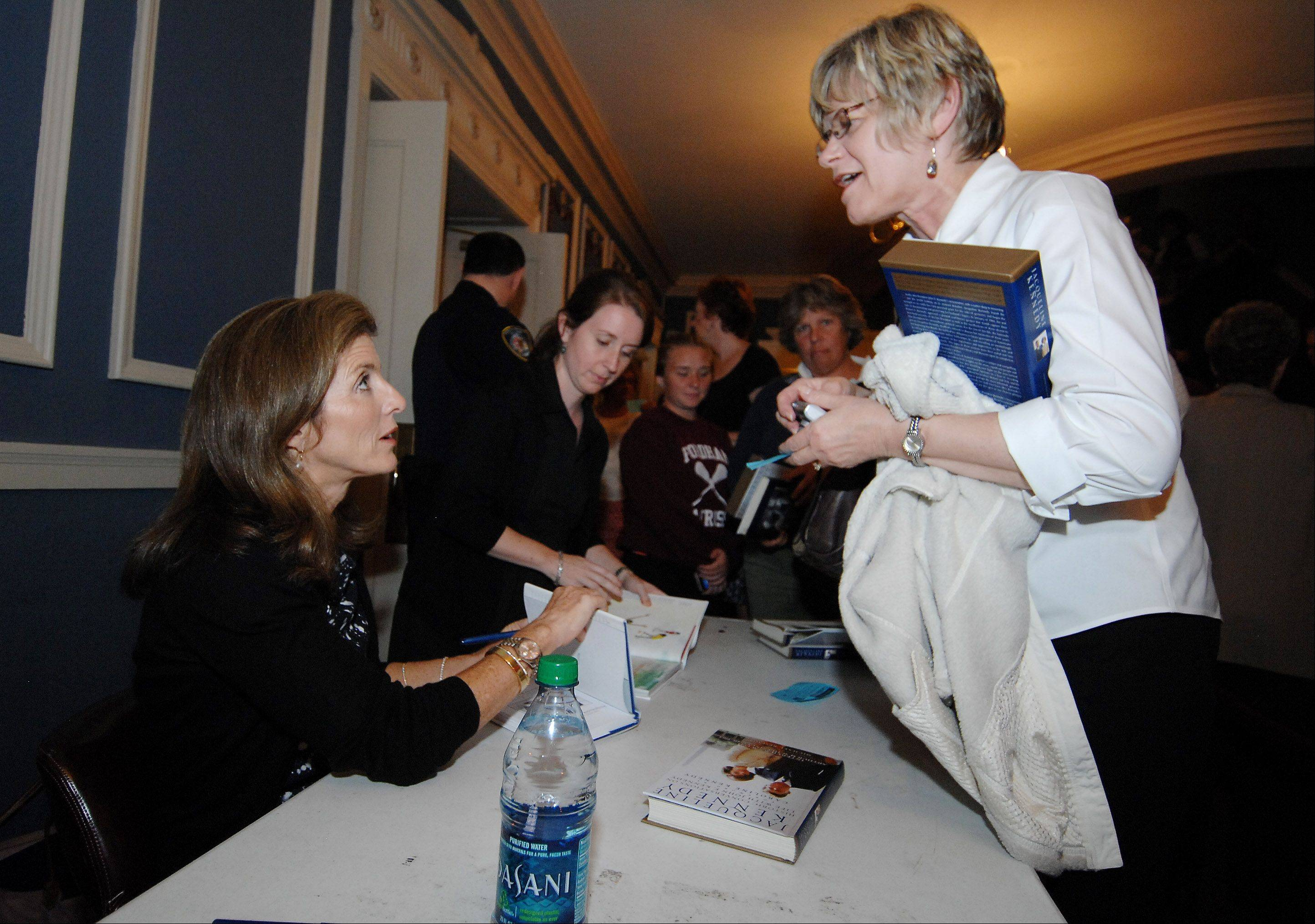 "Caroline Kennedy, left, will return to Naperville next month to promote her new book, ""Poems to Learn by Heart."""