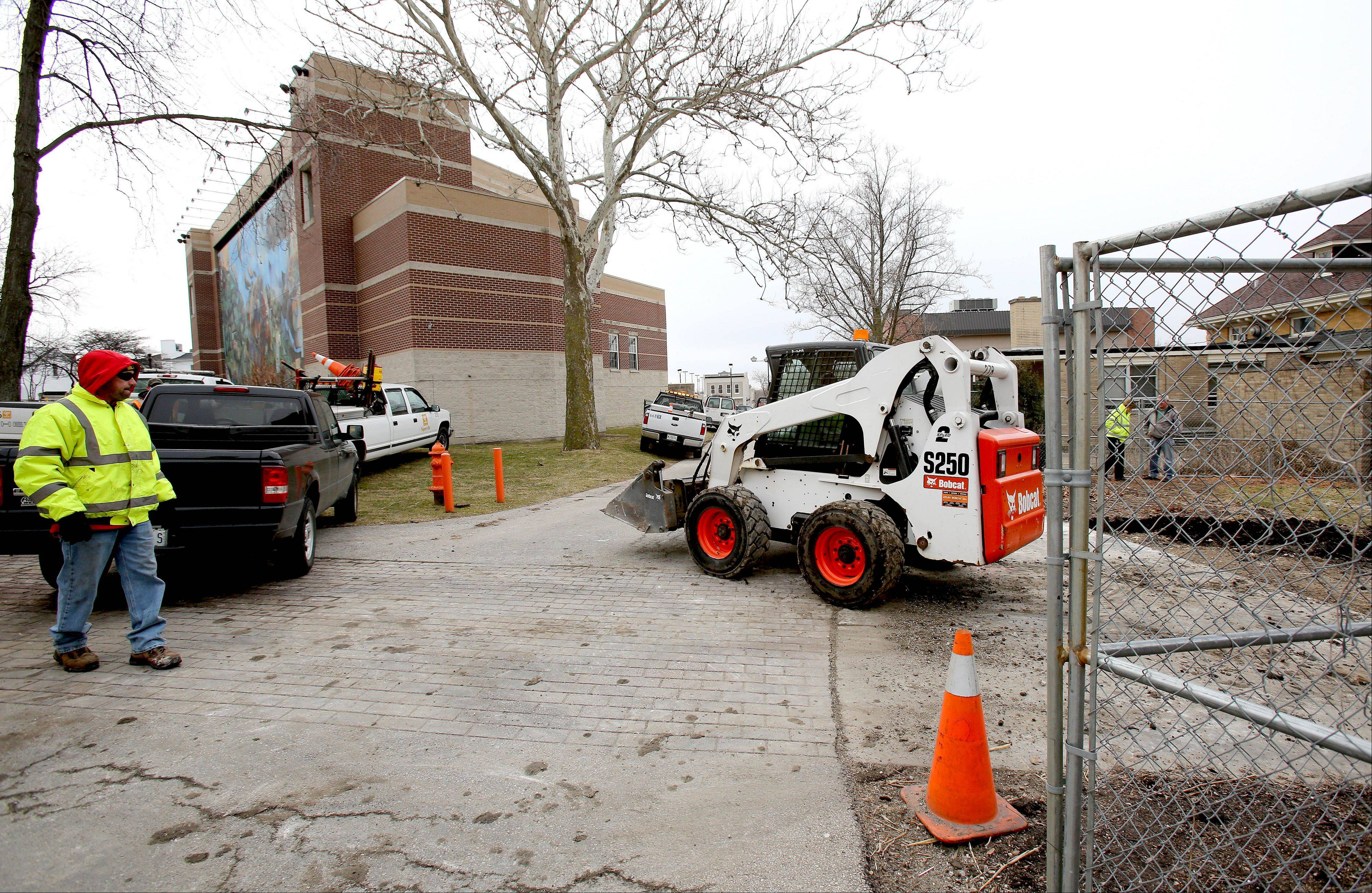 Construction is starting this week on permanent restrooms at Central Park in downtown Naperville.