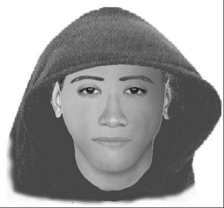 A computer generated likeness of an armed robbery suspect in Schaumburg, based on witness descriptions.
