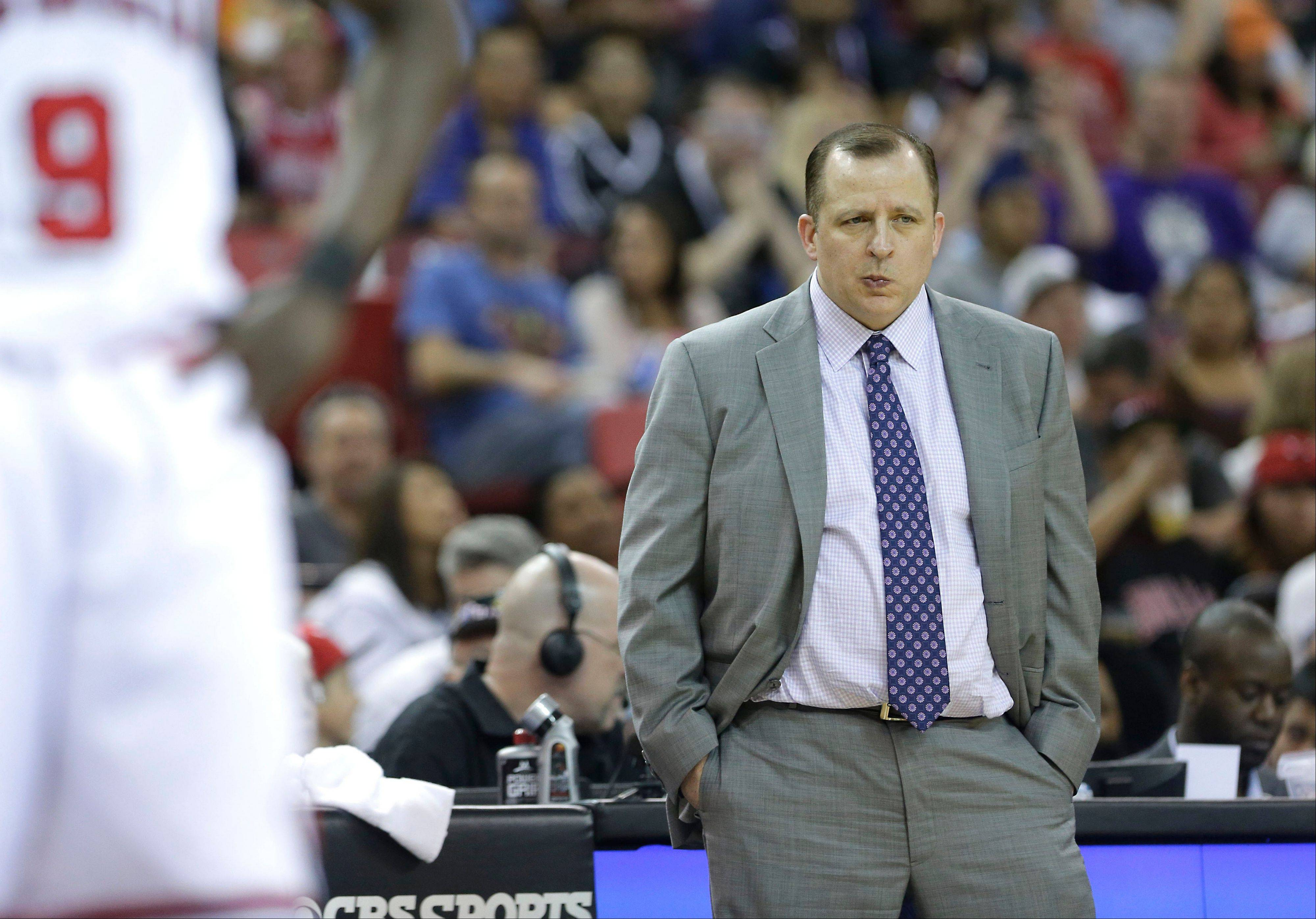 Coach Tom Thibodeau said he will drive the Bulls harder to prepare for upcoming games.