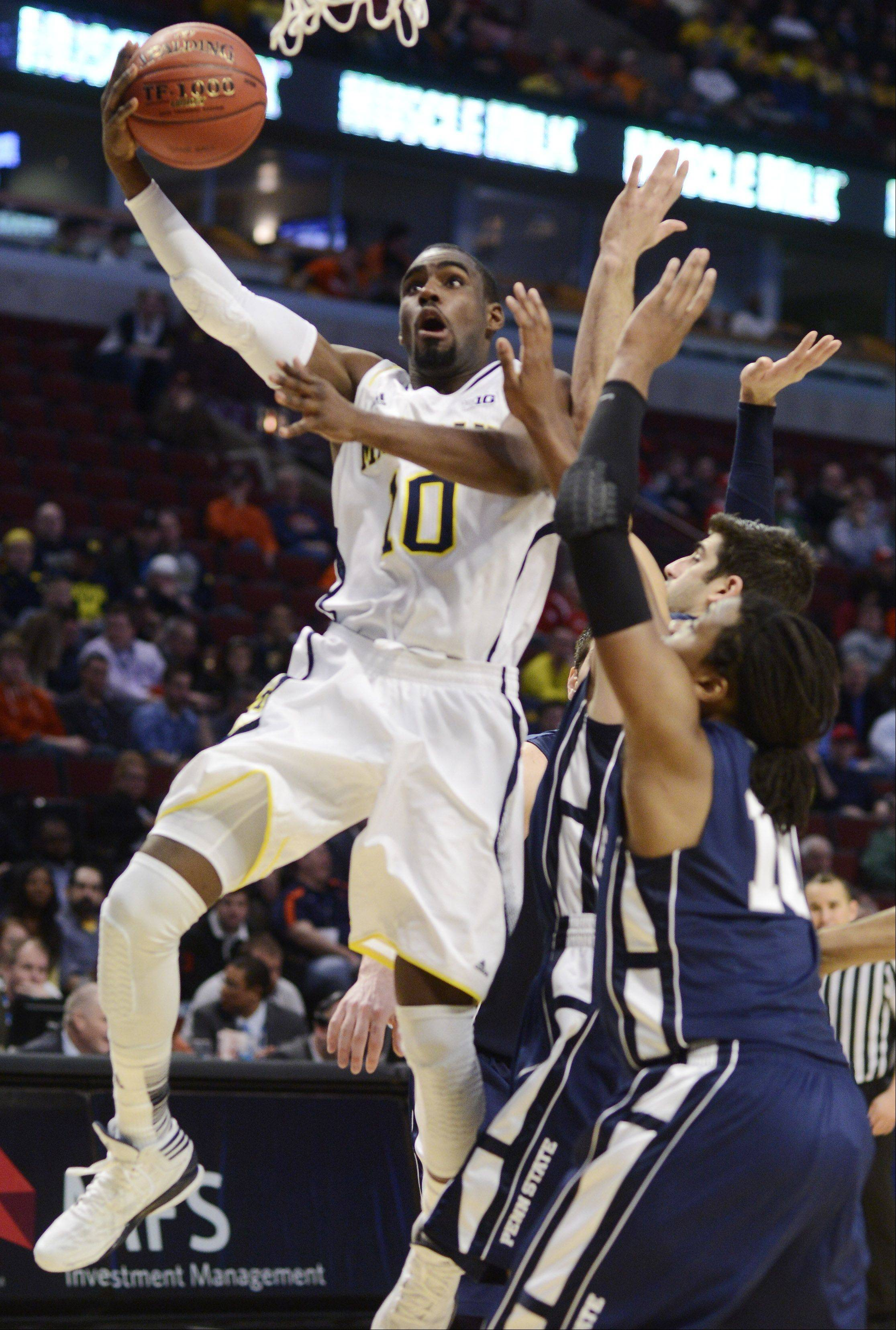 Michigan's Tim Hardaway Jr. drives to the basket.