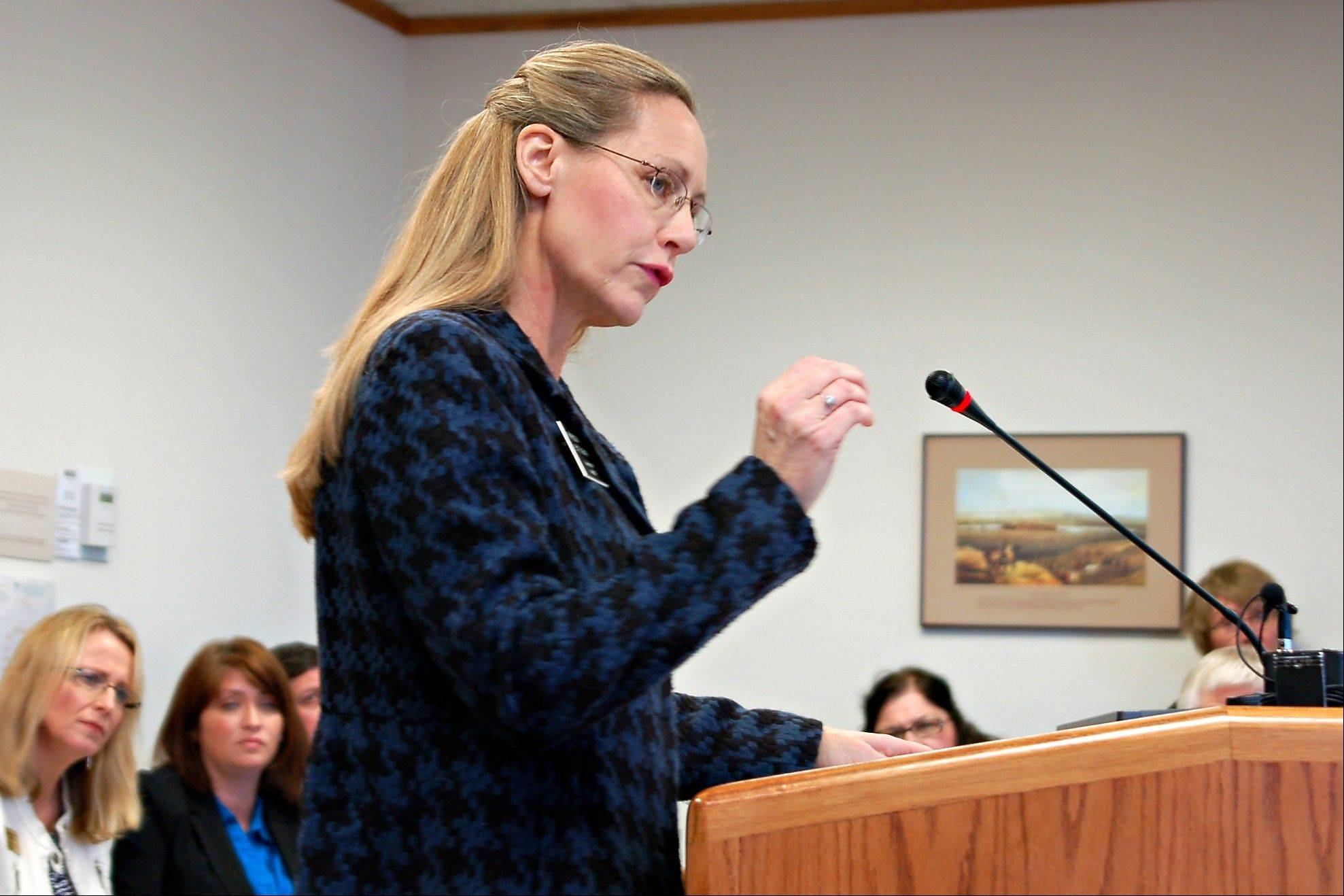 Associated Press/Jan. 31, 2013 Rep. Bette Grande testifies before the House Human Services Committee in Bismarck, N.D. Grande, a Republican from Fargo, introduced abortion bills that will now go to the governor.