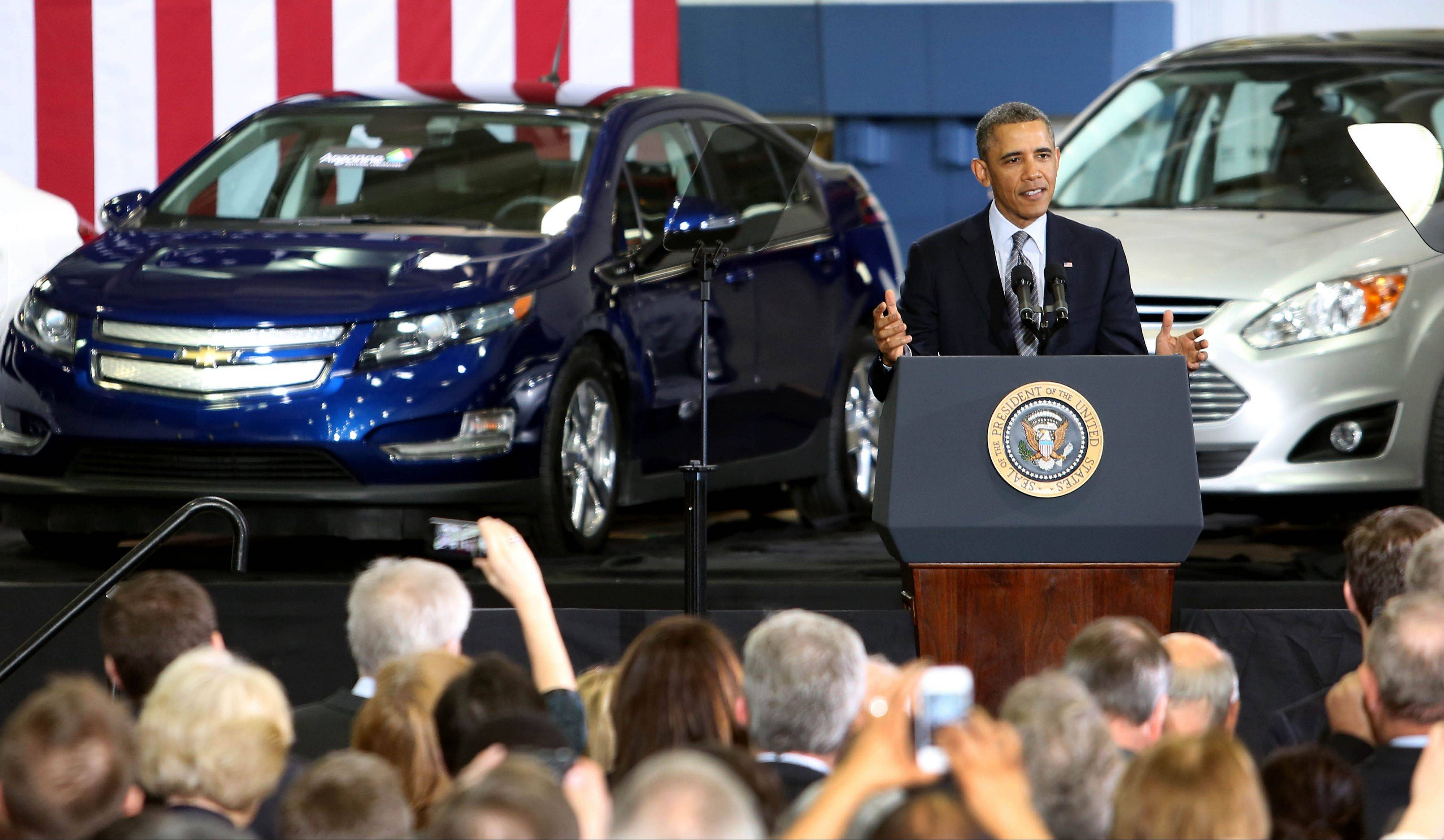 President Barack Obama speaks to scientists and employees at Argonne National Laboratory on Friday.