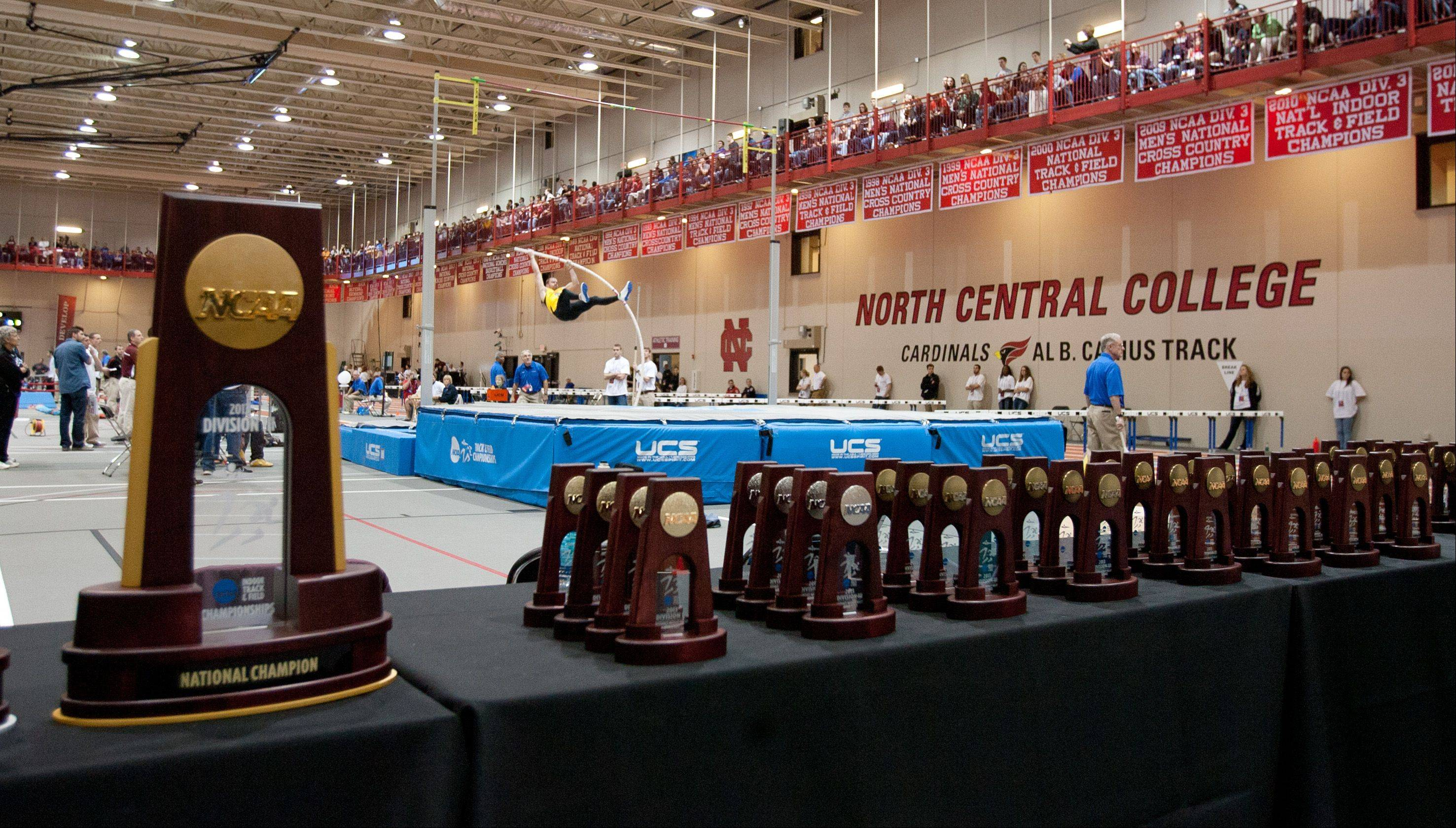 Trophies are waiting to be earned at the NCAA Division III Indoor Track and Field Championships at North Central College in Naperville.
