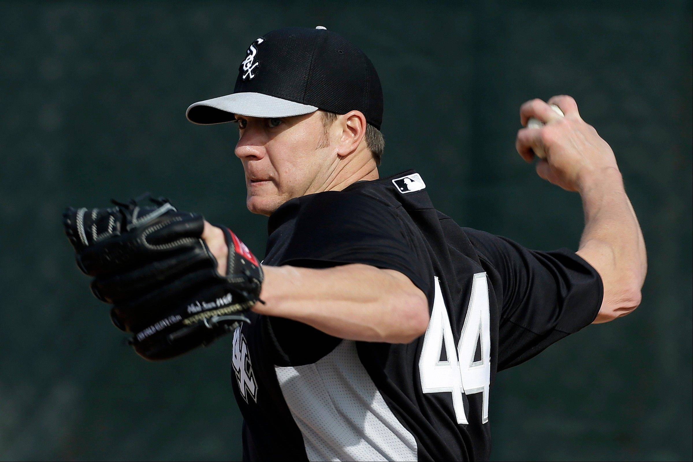 White Sox starting pitcher Jake Peavy maintains a positive attitude and also leads by example.