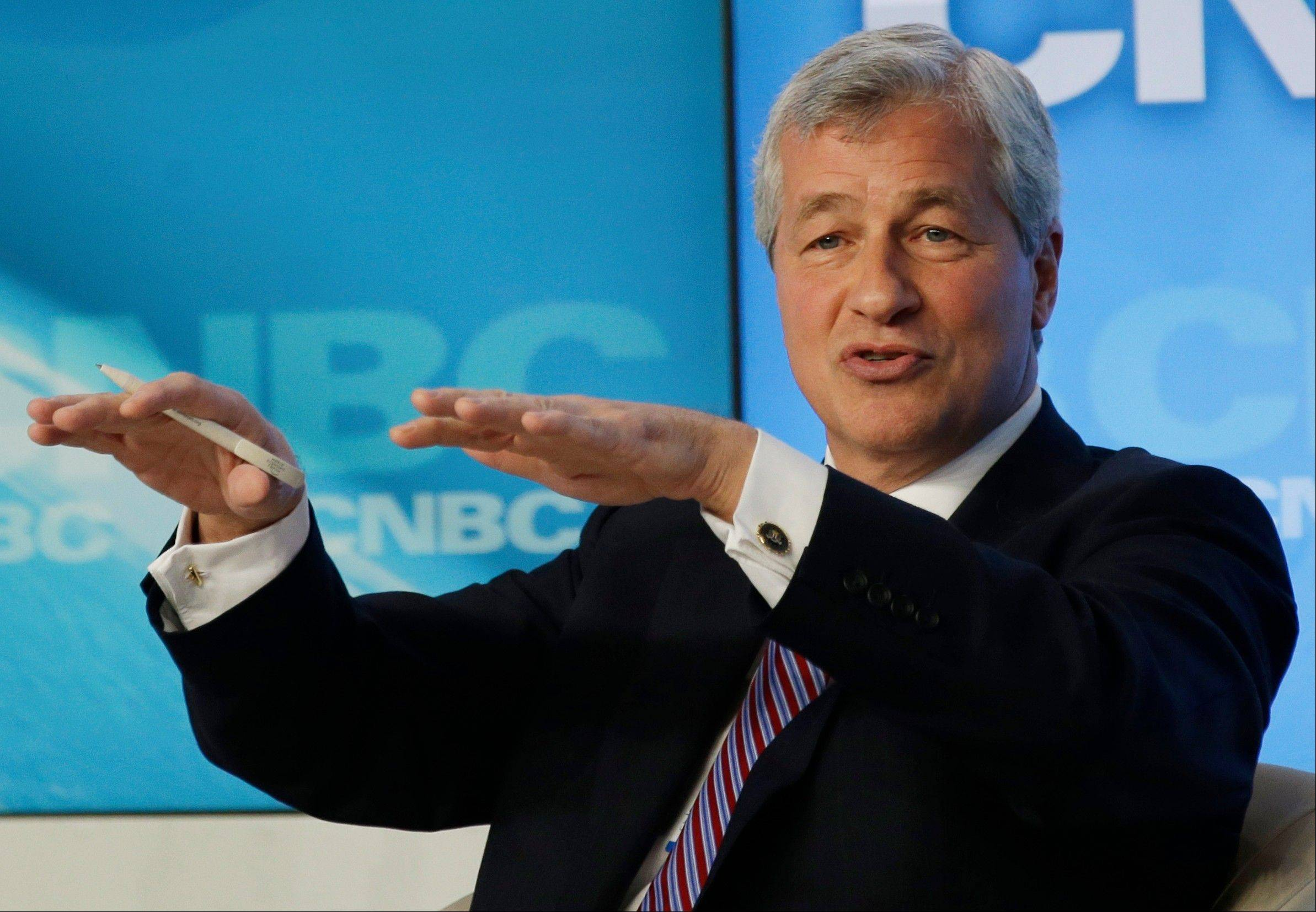 JPMorgan Chase CEO Jamie Dimon speaks Jan. 23 at the 43rd Annual Meeting of the World Economic Forum, WEF, in Davos, Switzerland.