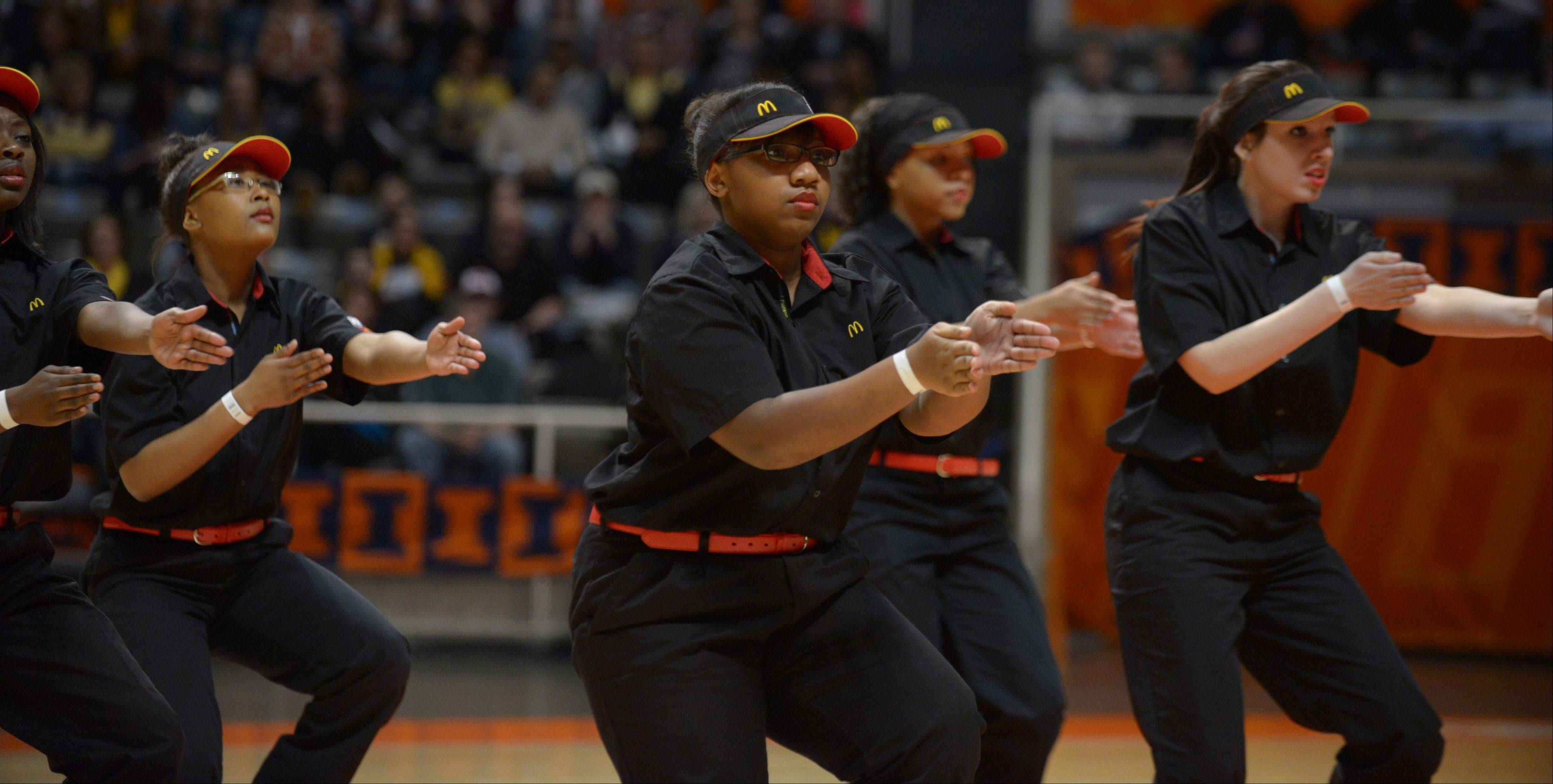 The Downers Grove North AAA Step team took part in the Illinois Drill Team Association State Championships, held at University of Illinois Assembly Hall Saturday.
