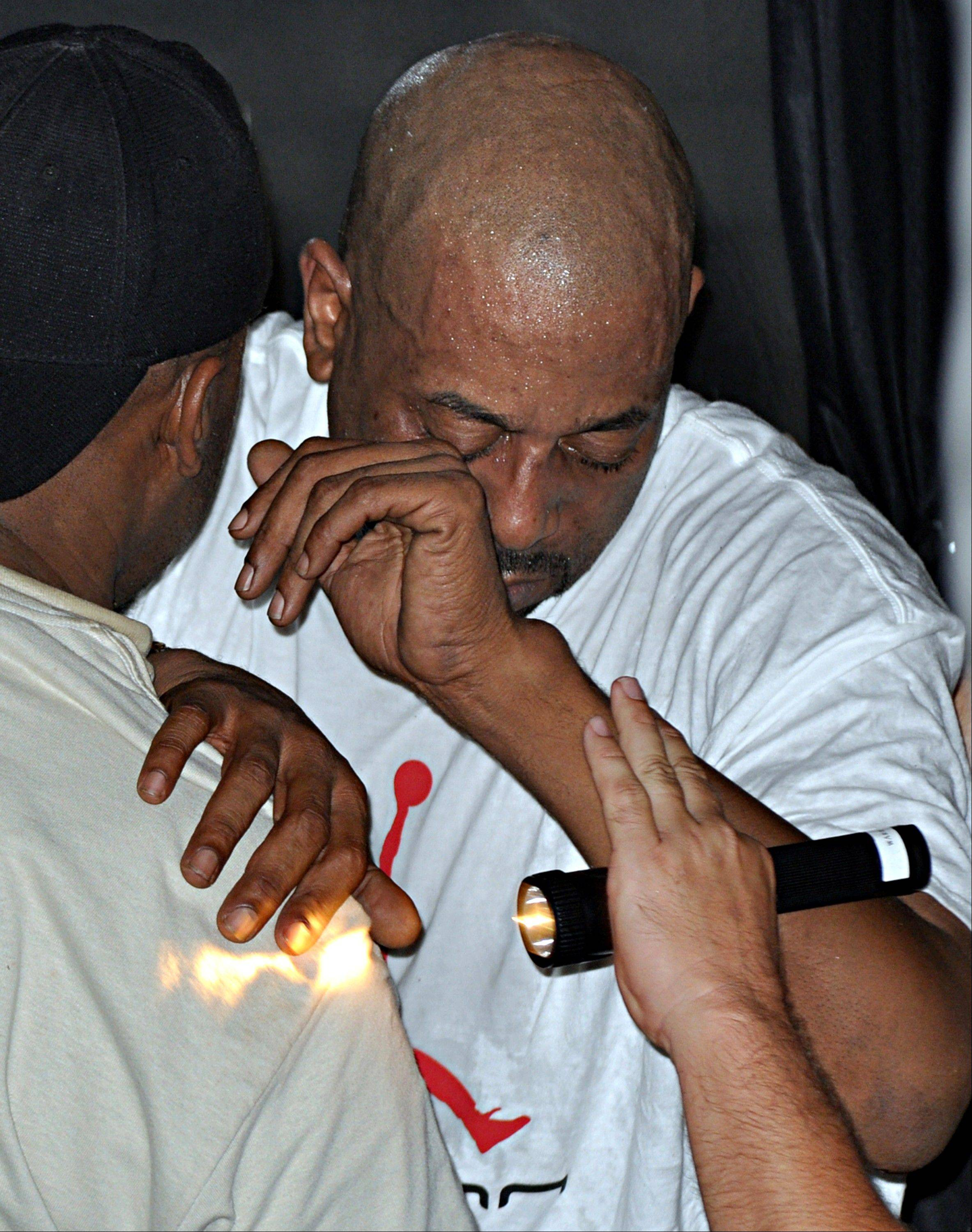 Rapper Tone Loc, shown here being assisted during a previous collapse on stage in 2009, didn�t want to be hospitalized after collapsing on stage during a Saturday night performance in Iowa.