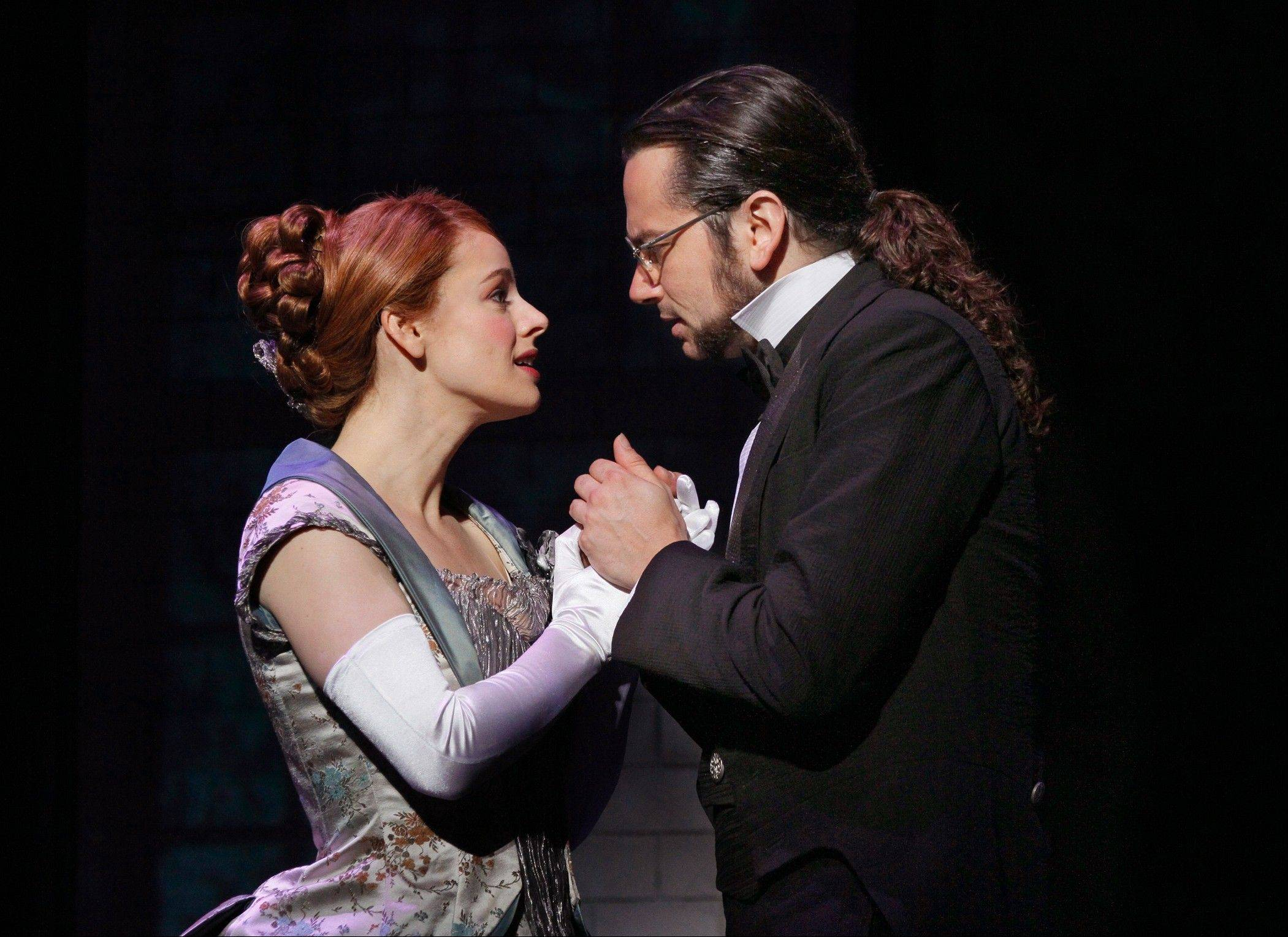 "Emma Carew (Teal Wicks) is concerned for her tormented fiancee, Dr. Henry Jekyll (Constantine Maroulis), in the Broadway-bound national tour of the 1997 musical ""Jekyll & Hyde,"" which plays the Cadillac Palace Theatre in Chicago through Sunday, March 24."