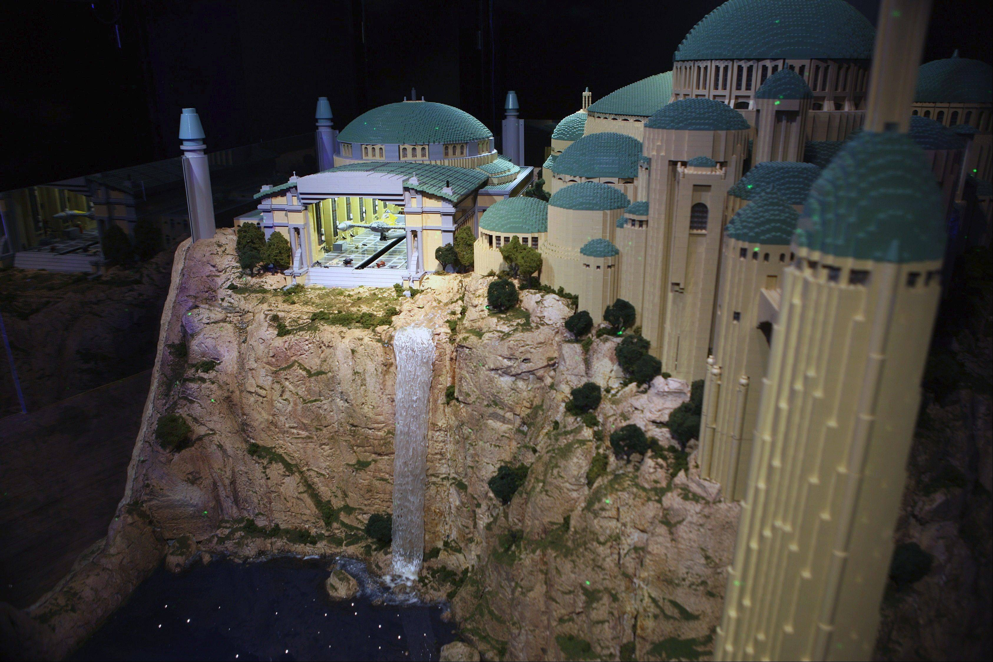 "The new temporary ""Star Wars"" exhibit at Schaumburg's Legoland creates three interactive scenes."