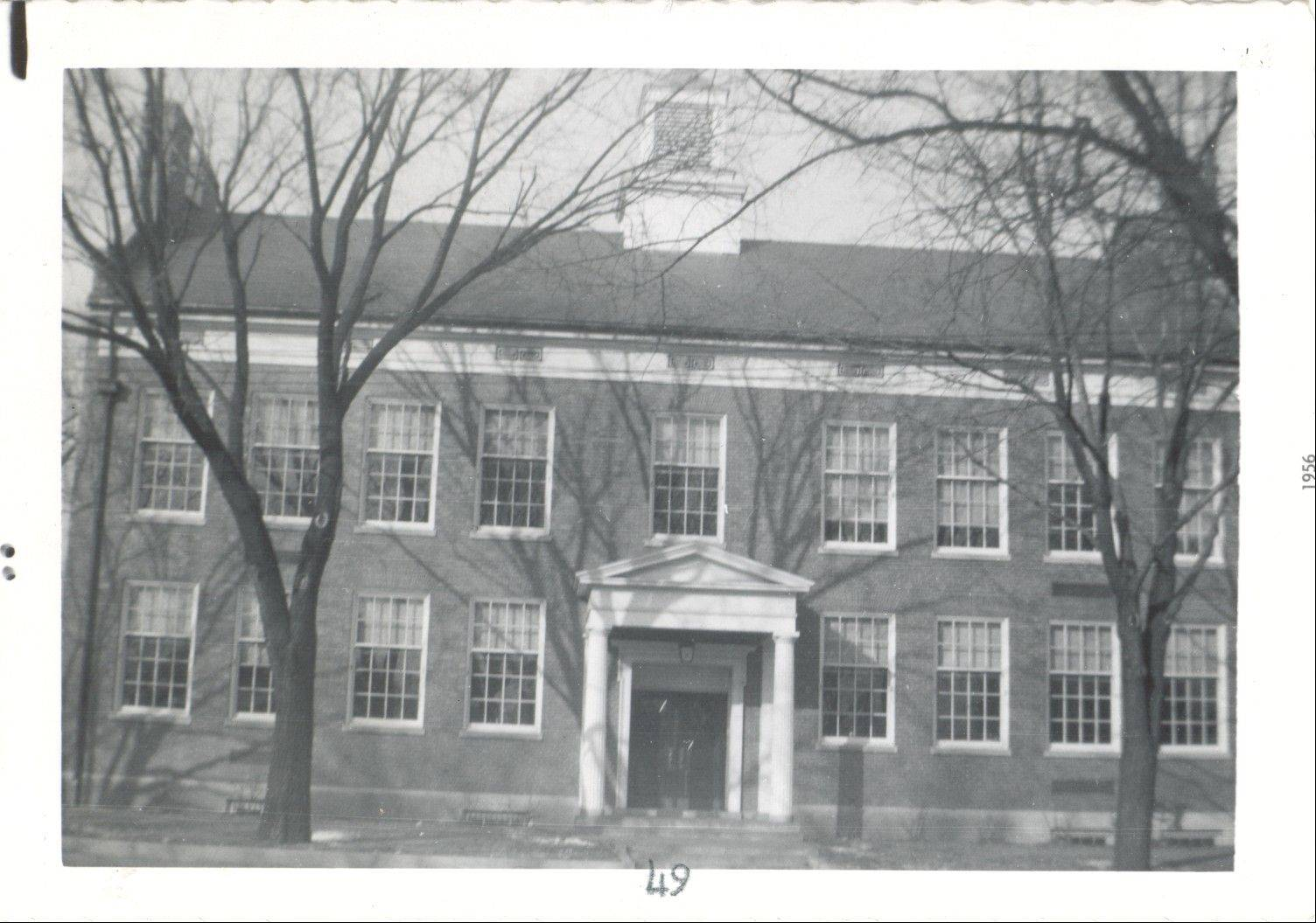 The photo of Central School in Libertyville was taken in 1956. Community leaders sought out a project that would preserve the building.