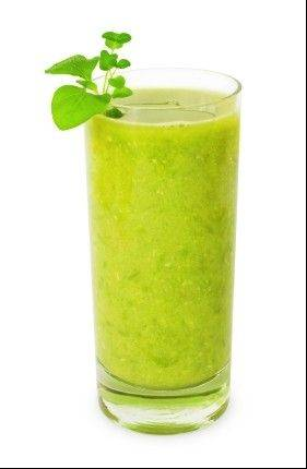 Eating green smoothies can be a good way to get in lots of daily fruit and veggie servings.