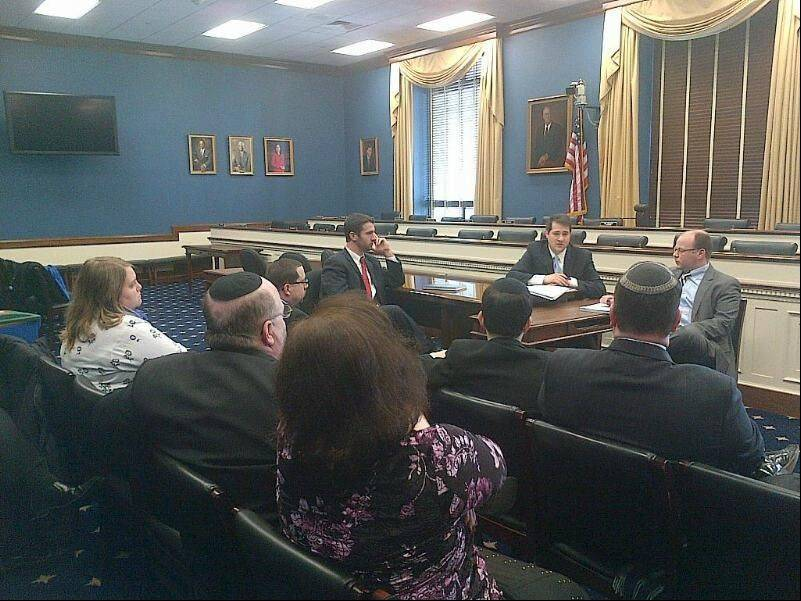 Jewish B2B Networking members meeting with House Small Business Committee staffers, Andy Guggenheim and David Gillers.
