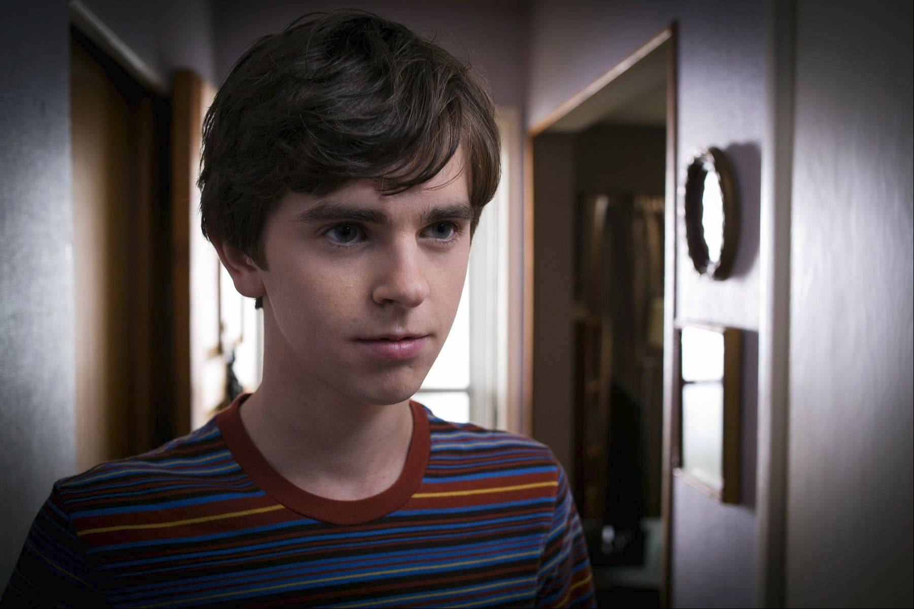 "Freddie Highmore as Norman Bates in A&E's ""Bates Motel."""