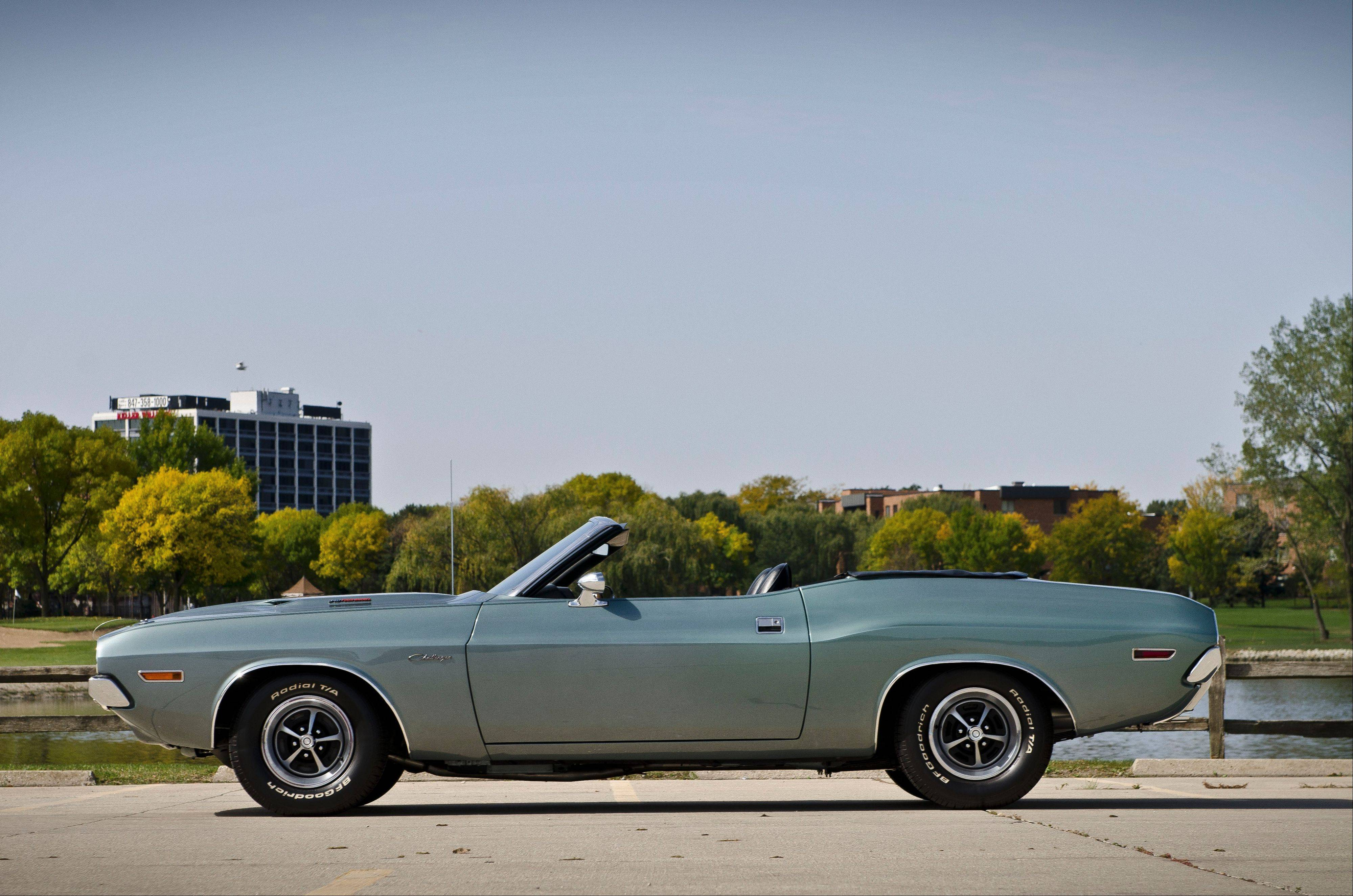 Hane used old stock parts, including fenders he purchased in the 1970s, to restore his Challenger.