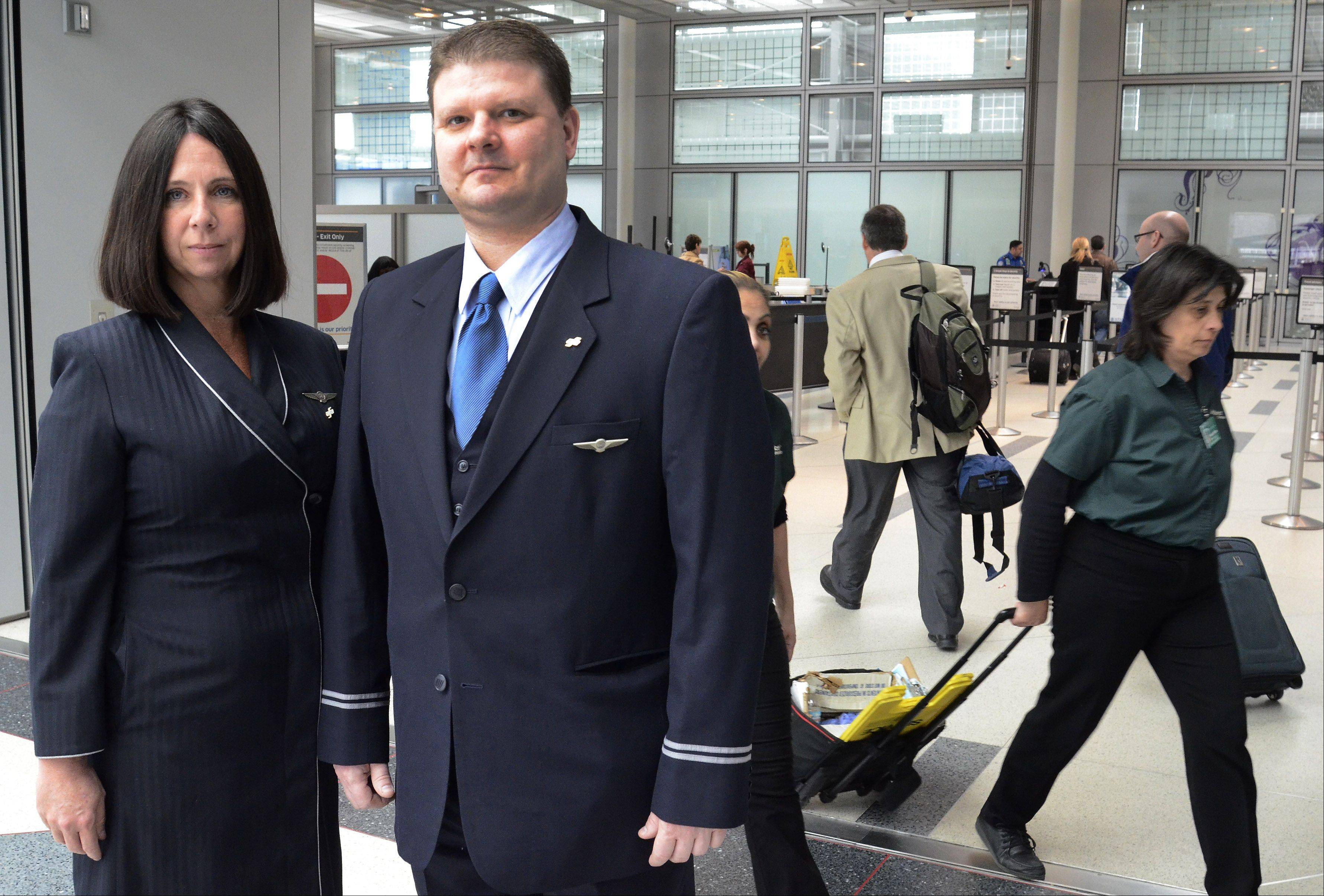 Flight attendants T.J. Sesko and Vicki Jurgens oppose TSA rule changes allowing people to bring pocketknives onboard planes.
