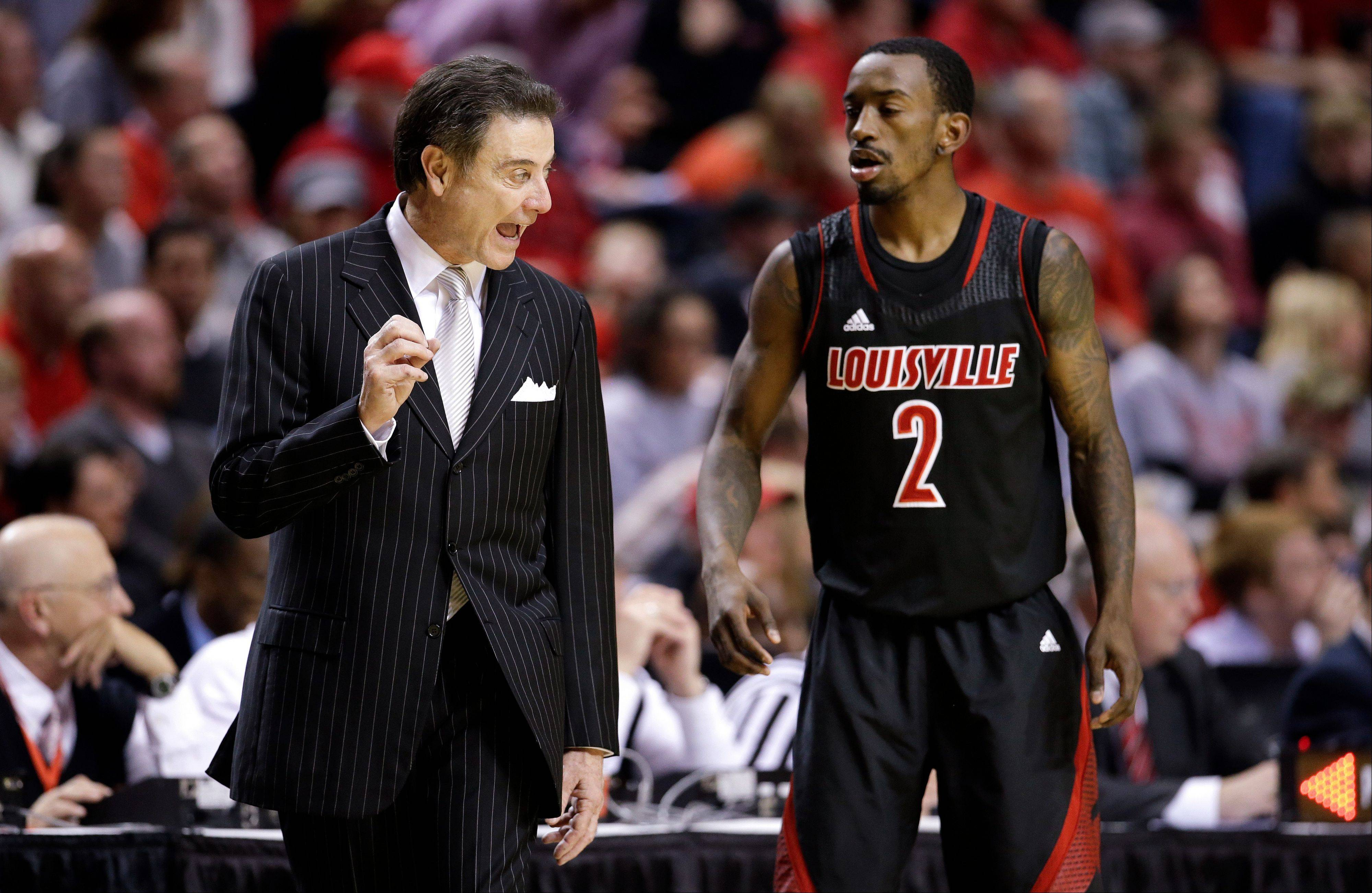 Louisville head coach Rick Pitino and the Cardinals enter the NCAA tournament as the overall No 1 seed.