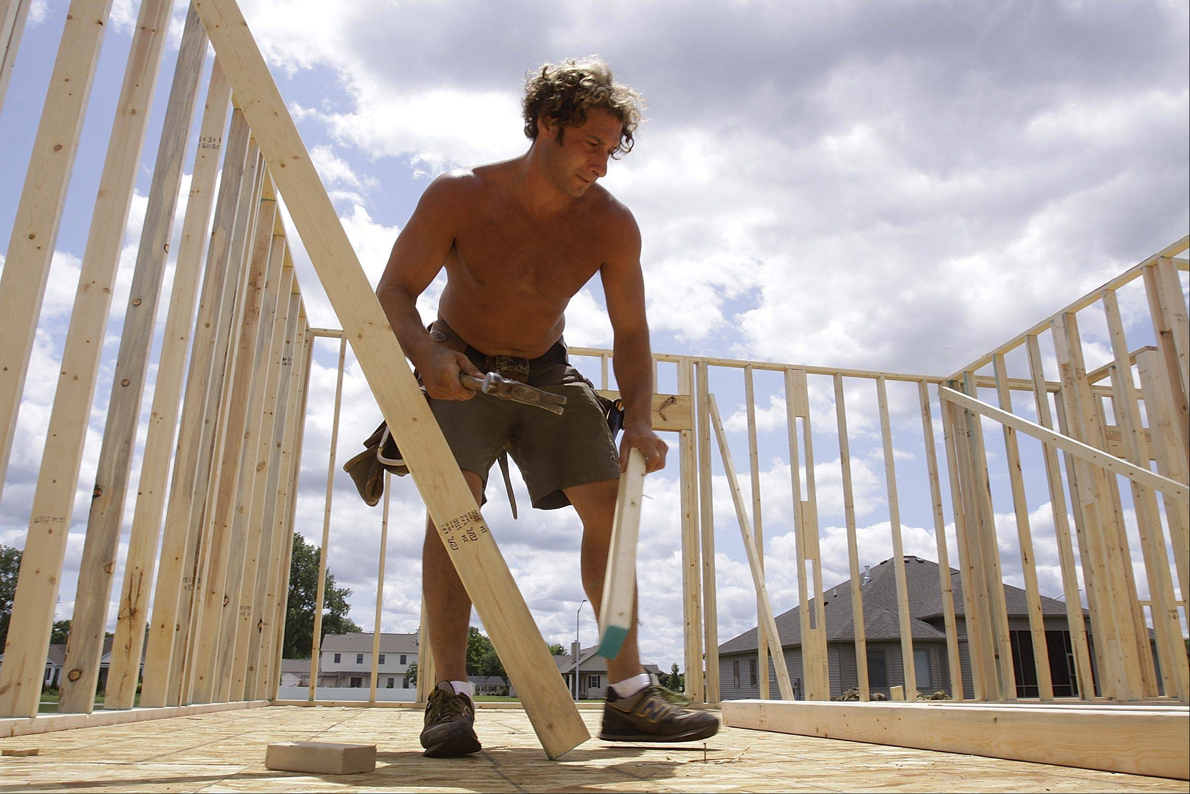 U.S. builders started more homes in February and permits for future construction rose at the fastest pace in 4 � years. The increases point to a housing recovery that is gaining strength.